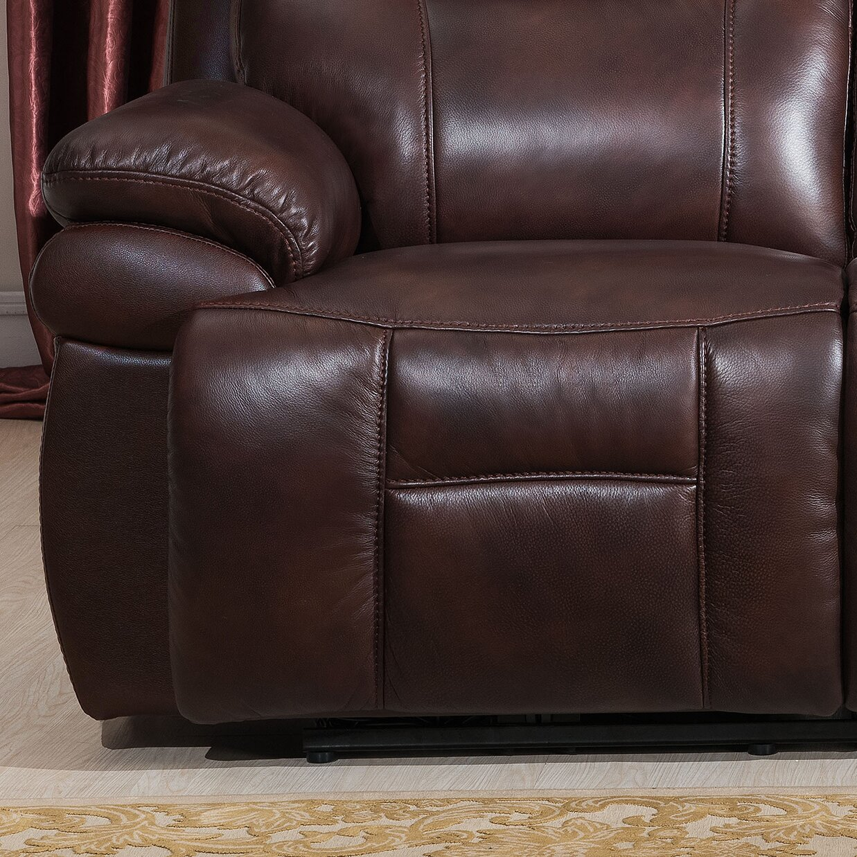 Amax sanford 2 piece leather power reclining living room set with power headrests and drop down 2 piece leather living room set