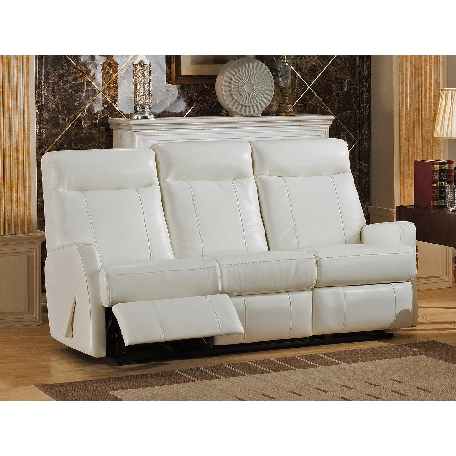 Amax toledo 3 piece leather living room set for Three piece leather living room set