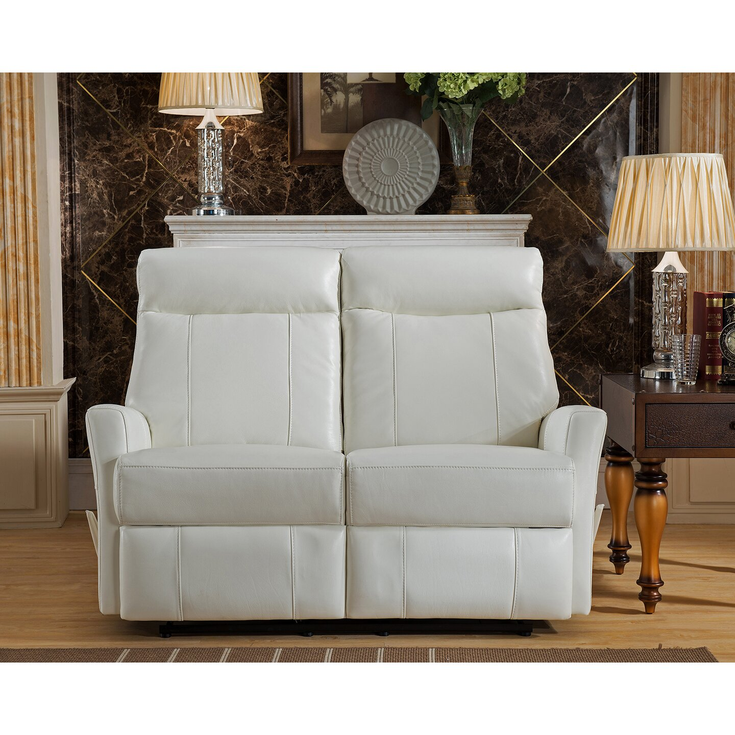 Amax toledo leather sofa and loveseat set wayfair Living room furniture toledo ohio
