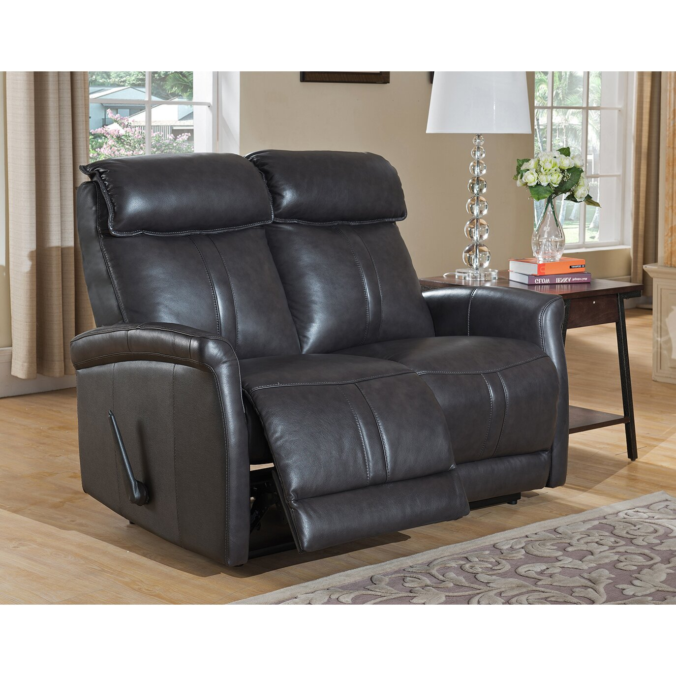 luxury photograph of leather sofa and loveseat sets