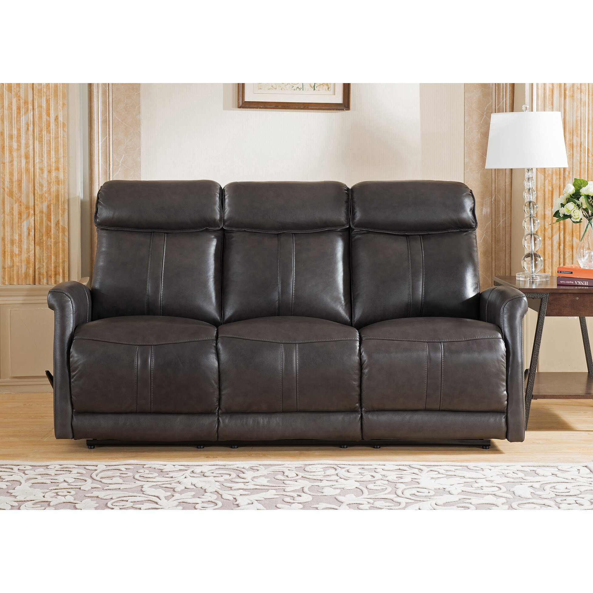 Amax mosby 3 piece leather living room set wayfair for 3 piece living room set