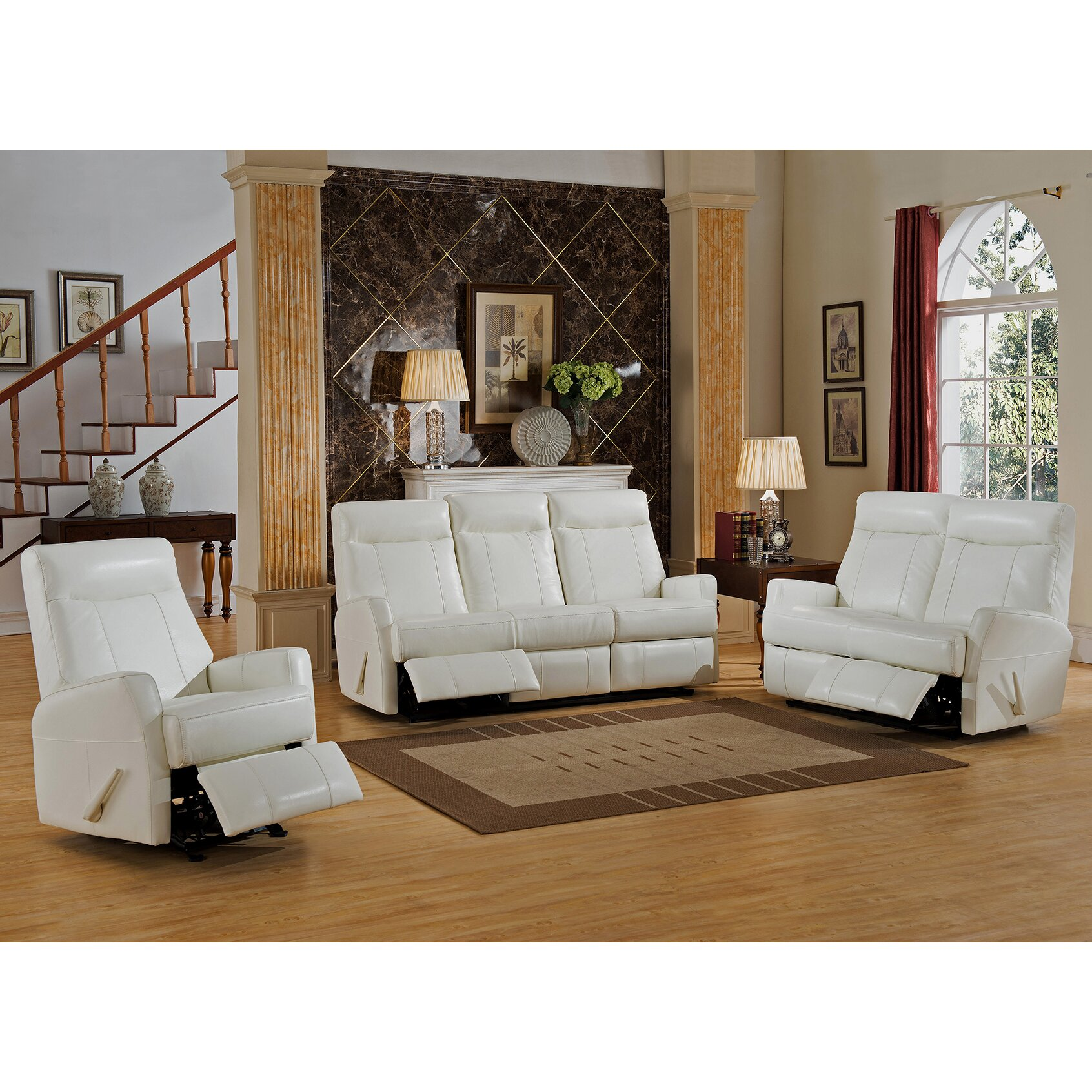 Amax Toledo 3 Piece Leather Living Room Set  Wayfair.ca