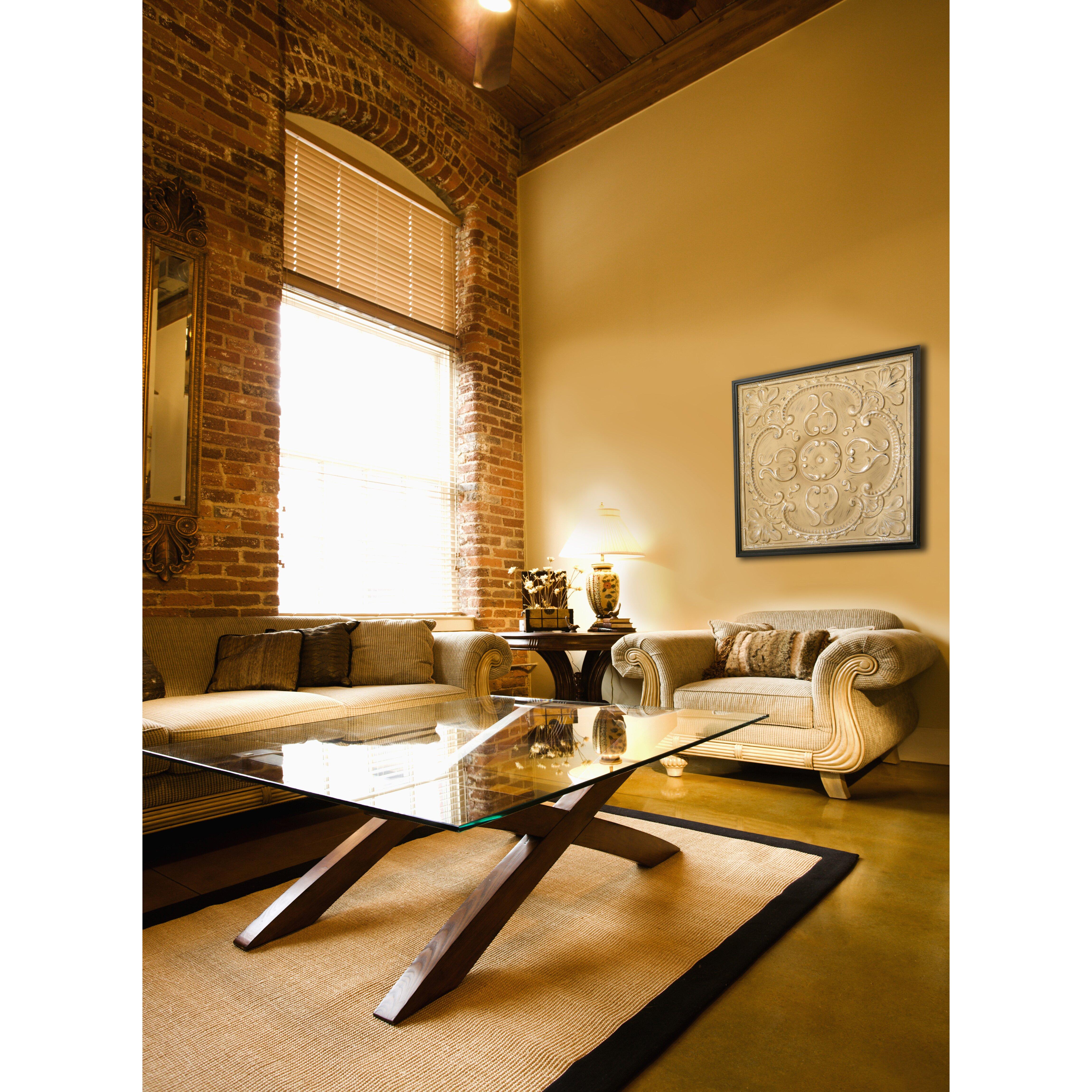 Hdc international metal tin framed tan wall decor for International decor