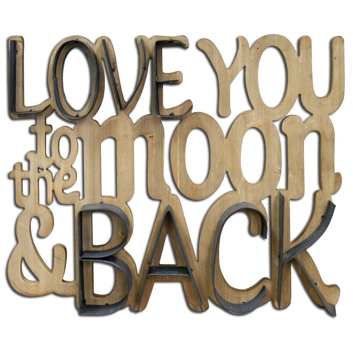 Hdc international 39 love you to the moon and back for International wall decor