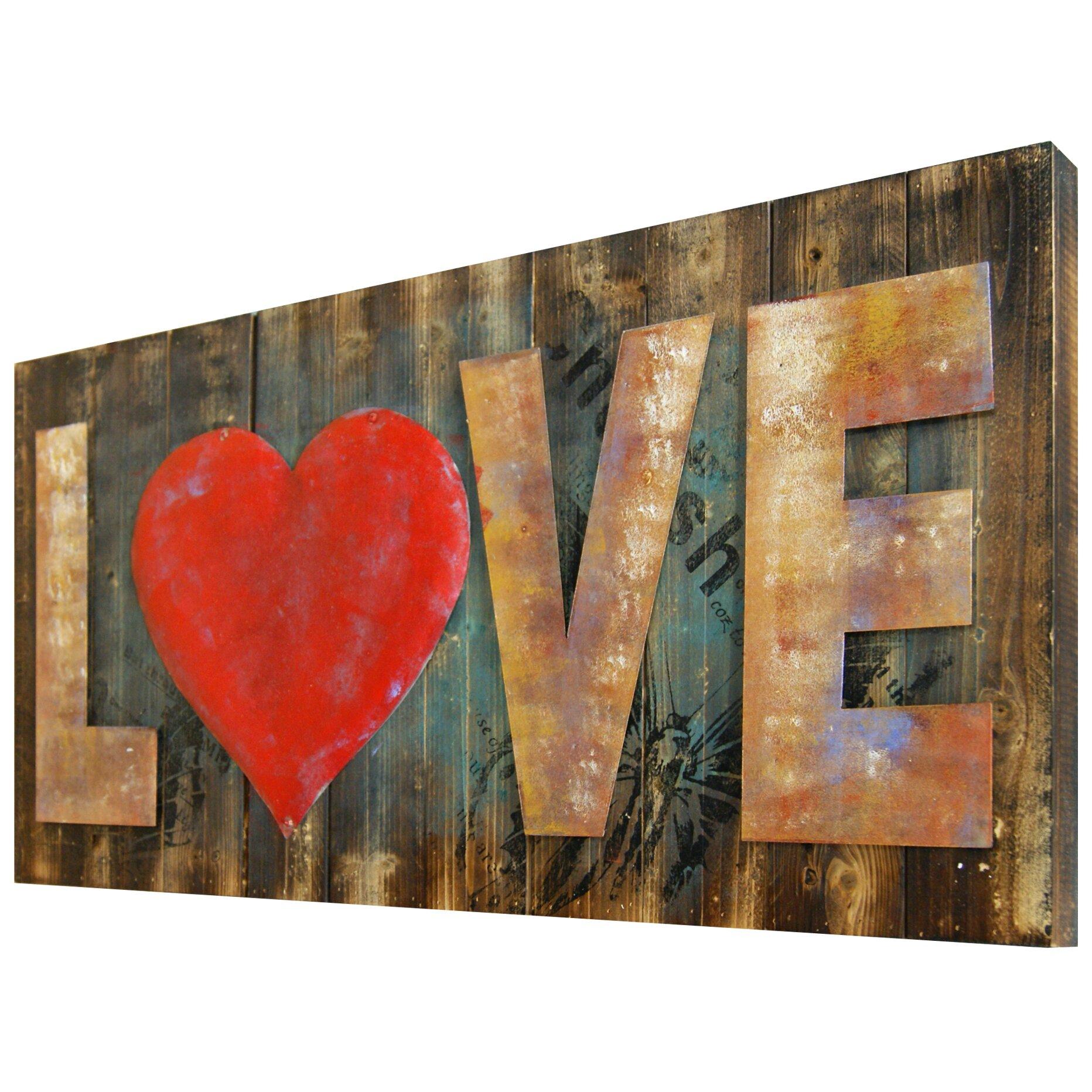Hdc international 3d love red heart wall decor reviews for International wall decor