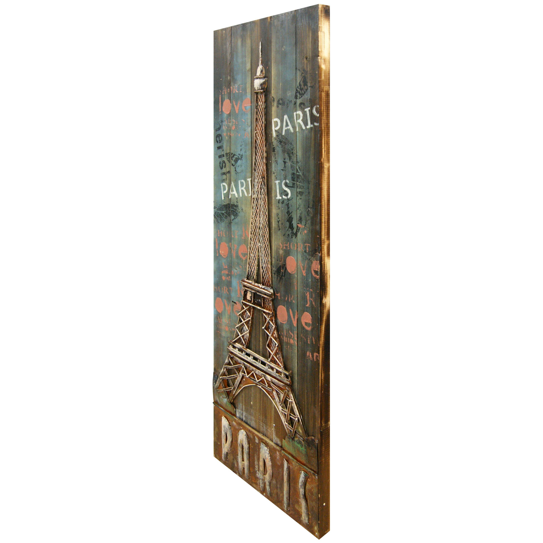 Hdc international 3d eiffel tower wall decor wayfair for International wall decor