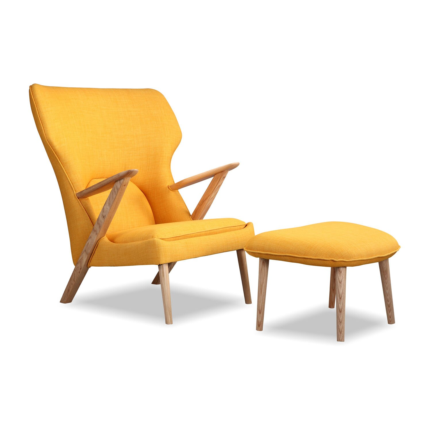 Kardiel cub mid century modern lounge chair and ottoman for Contemporary lounge chairs