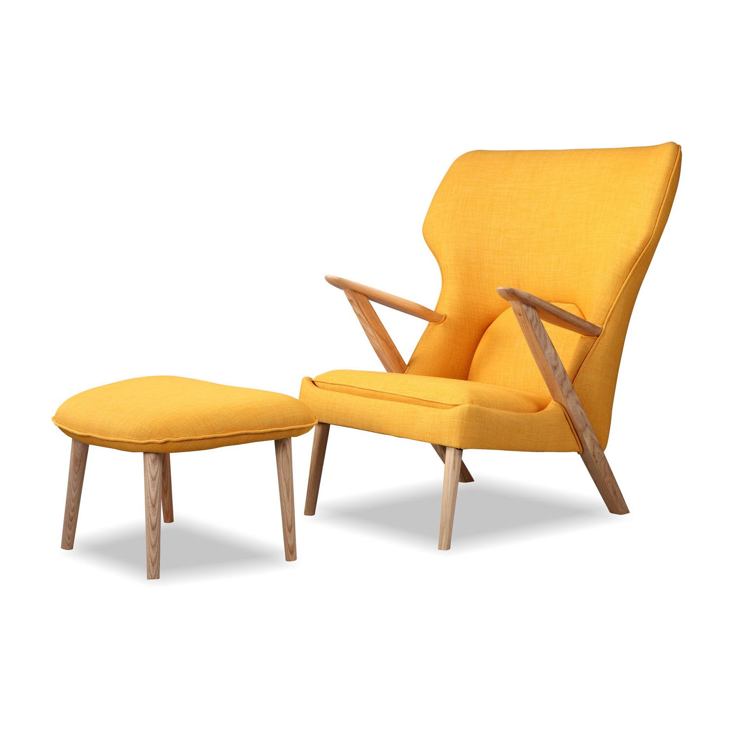 Kardiel cub mid century modern lounge chair and ottoman for Stylish lounge furniture