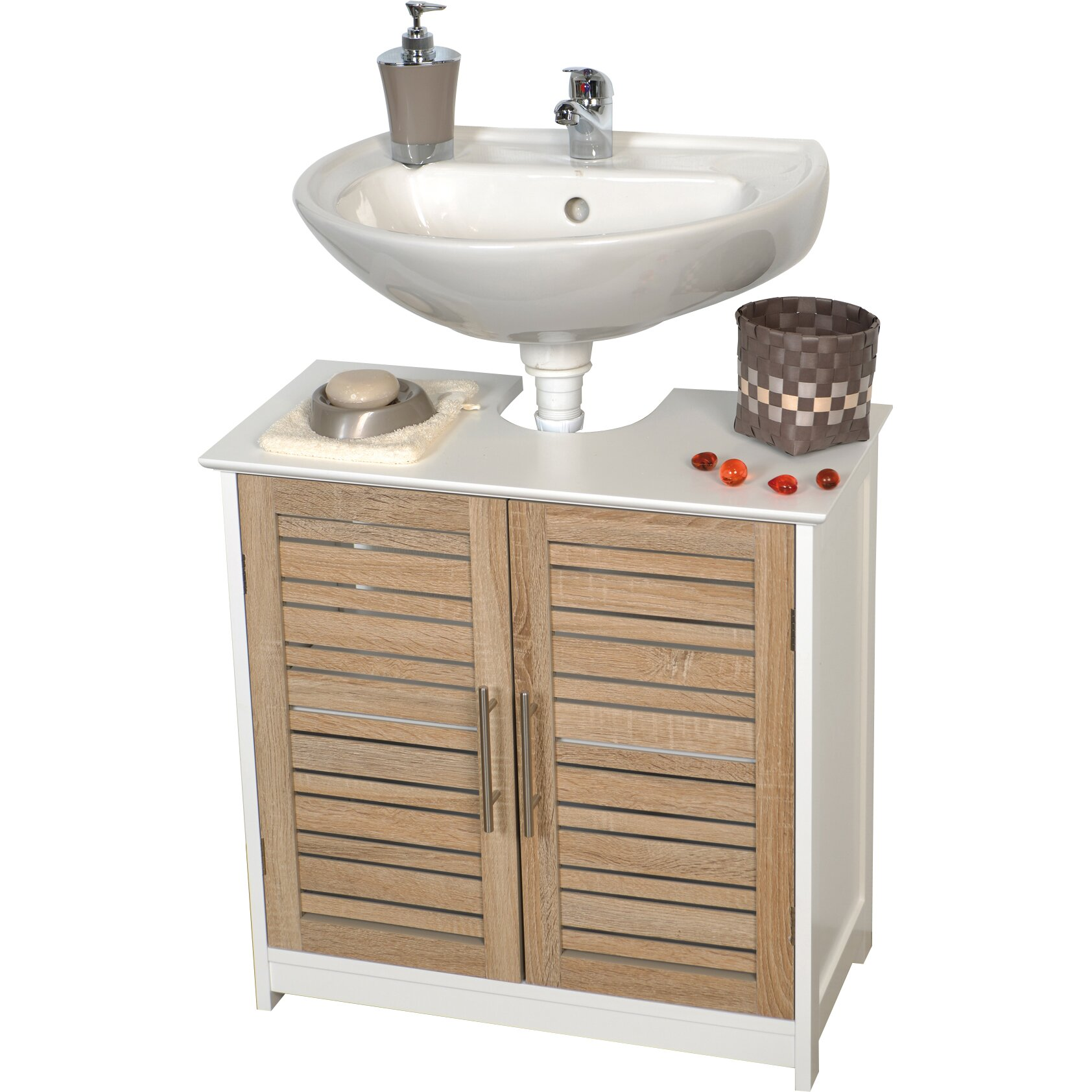 Evideco stockholm 23 6 bath under sink storage vanity - Bathroom vanity under sink organizer ...