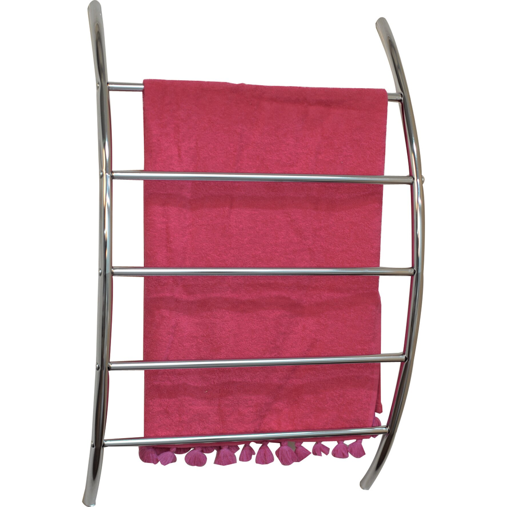 evideco wall mounted towel rack reviews wayfair. Black Bedroom Furniture Sets. Home Design Ideas