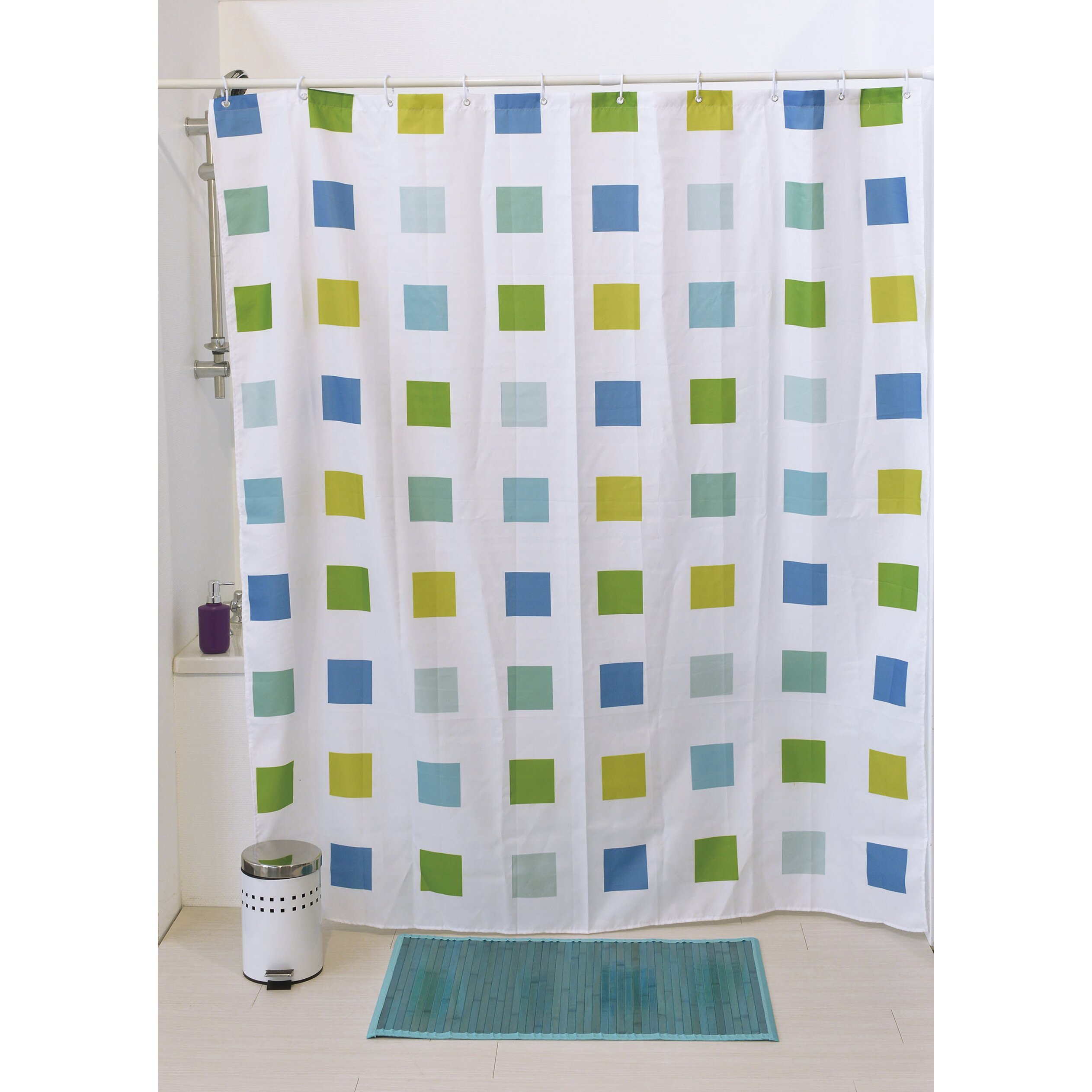 Evideco Karl Printed Shower Curtain