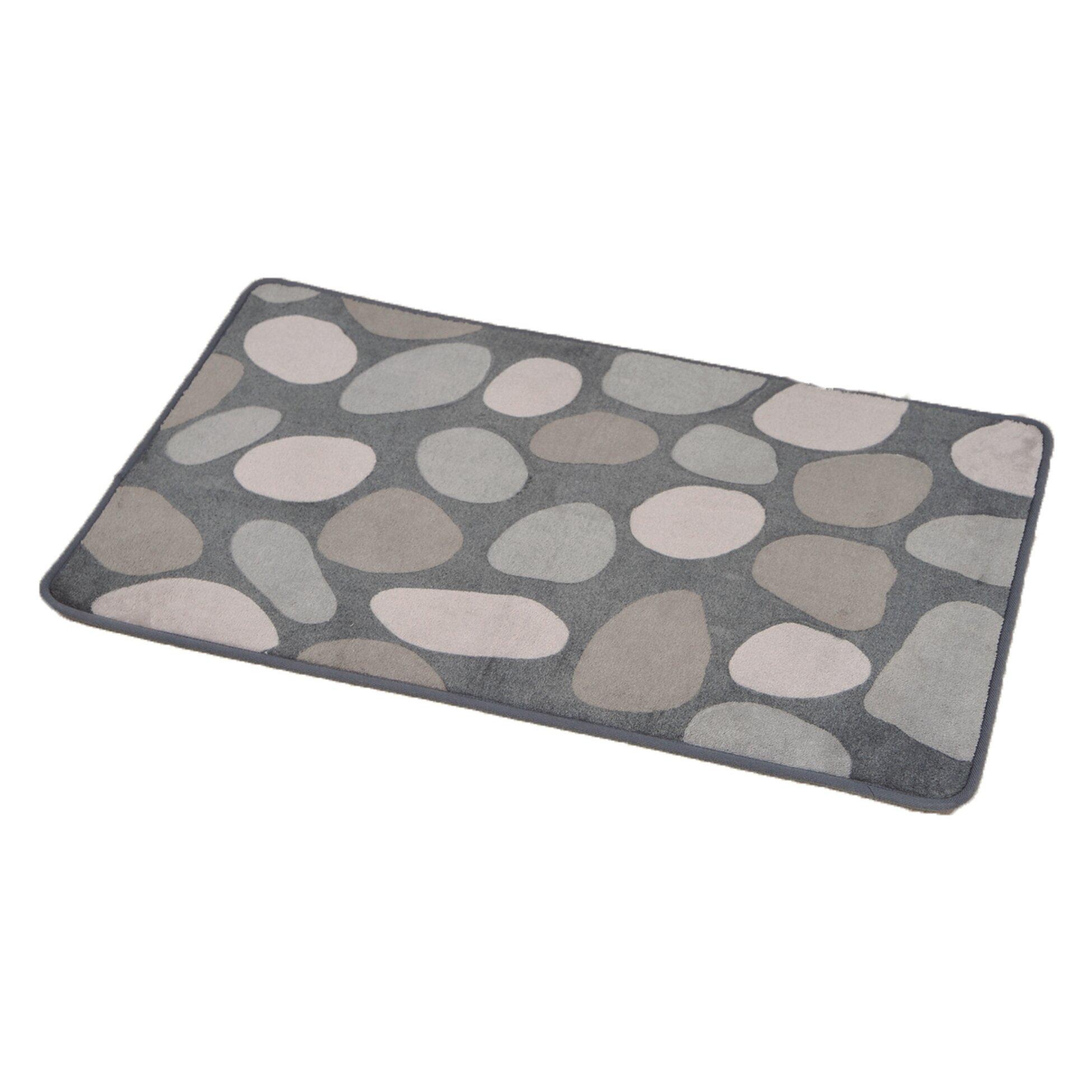 Evideco Spa Non Skid Print Bath Rug
