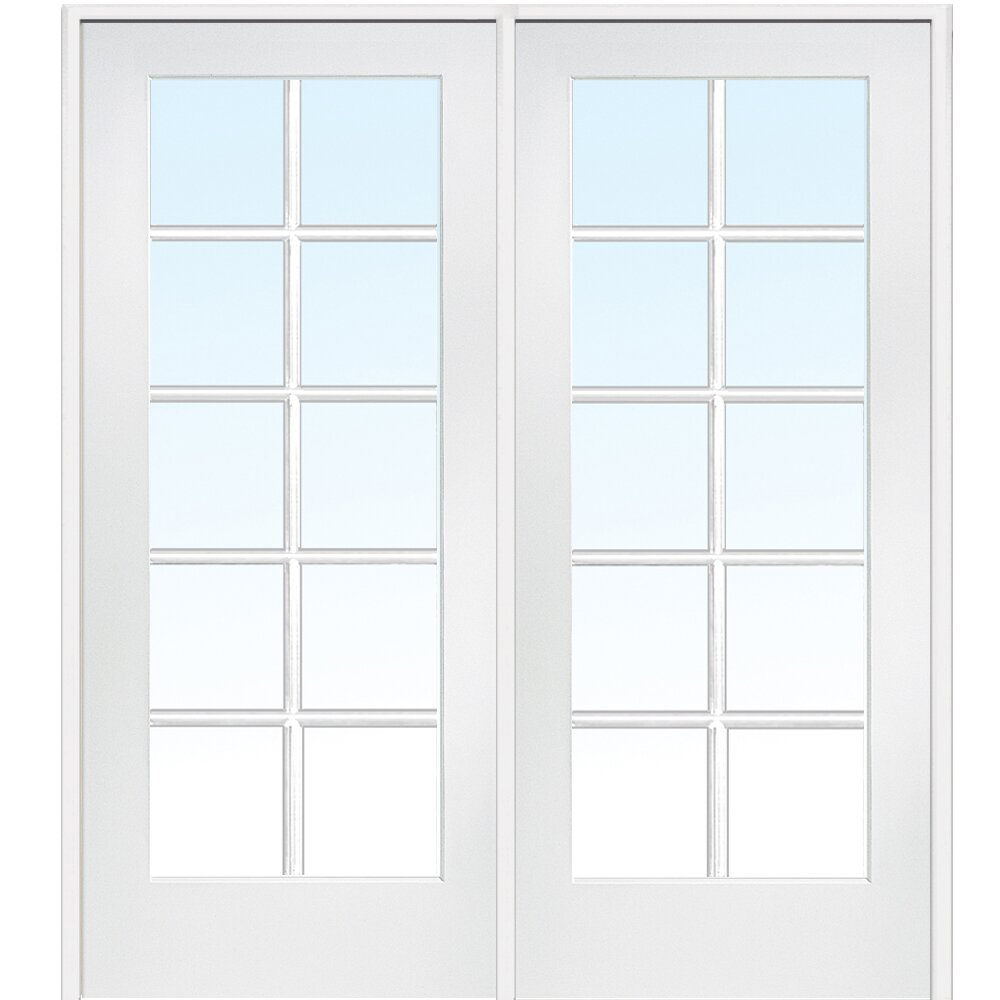 Verona home design mdf primed interior french door for Home hardware french doors