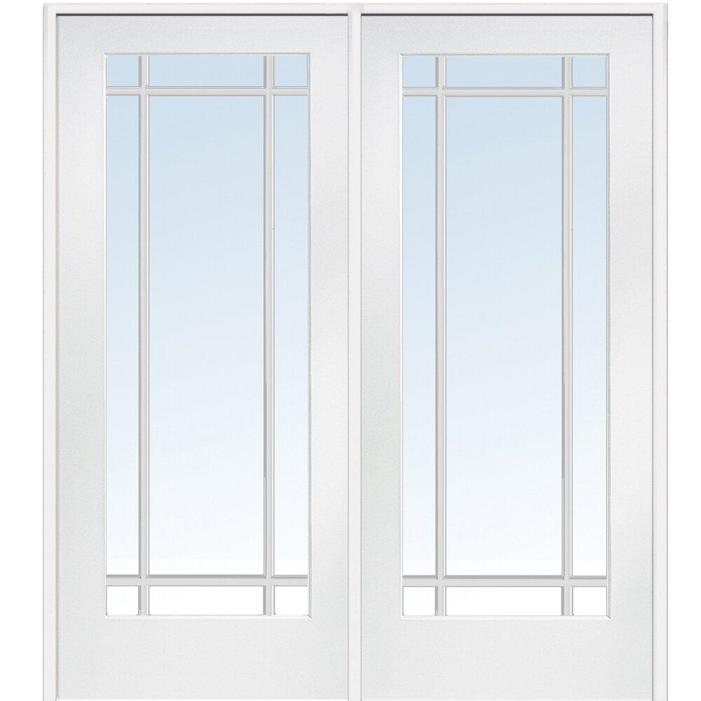 Verona home design mdf primed interior french door wayfair for Interior french doors home hardware