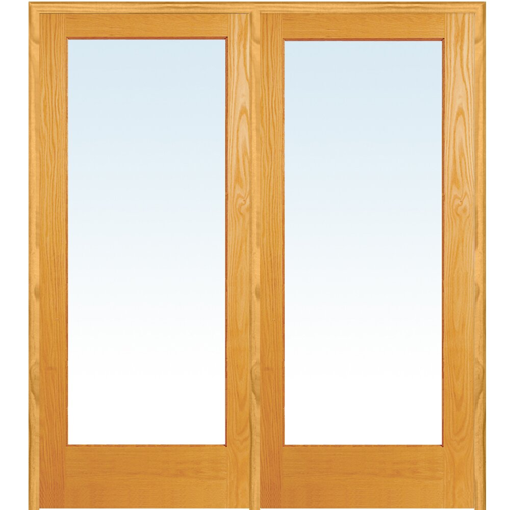 Verona home design wood 2 panel natural interior french for Interior french doors home hardware