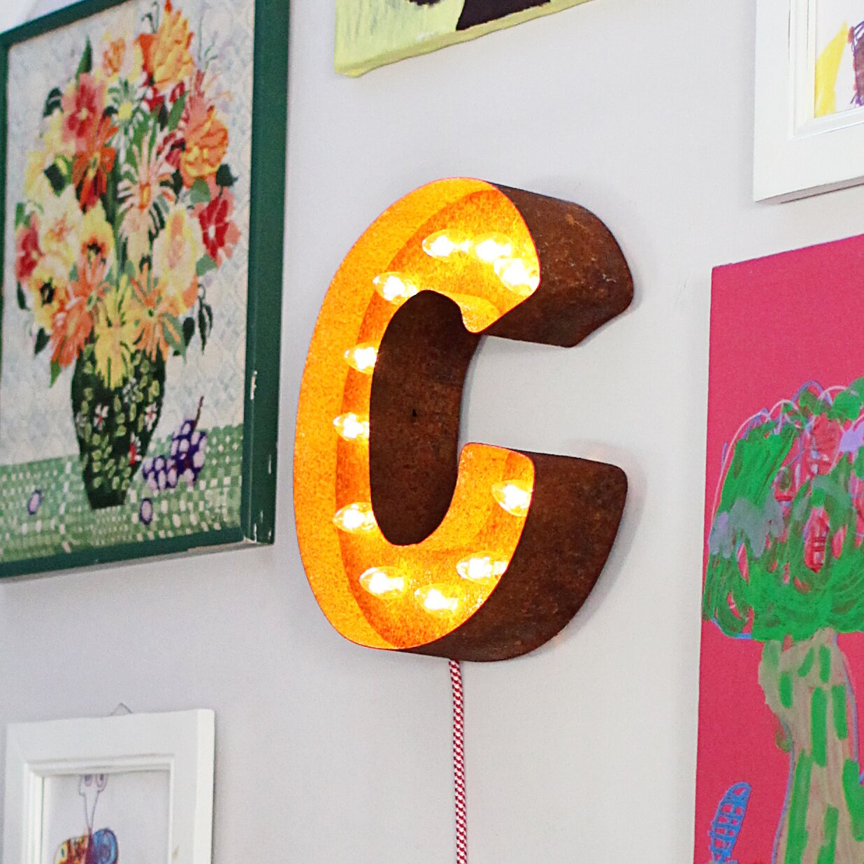 Vintage Star Wall Decor : Vintage marquee lights letter wall decor reviews