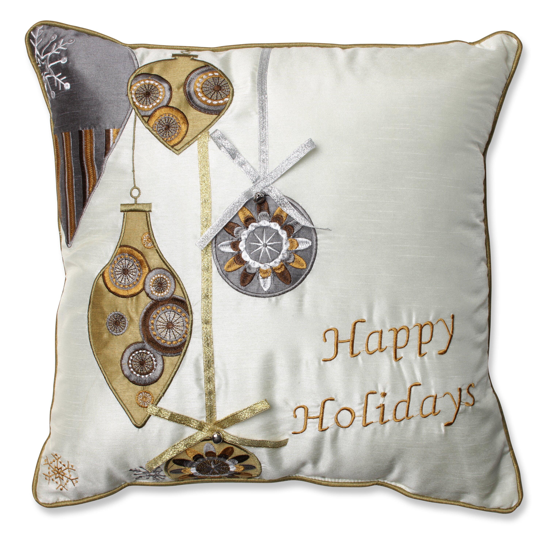 The Holiday Aisle Holiday Ornaments Throw Pillow & Reviews Wayfair.ca