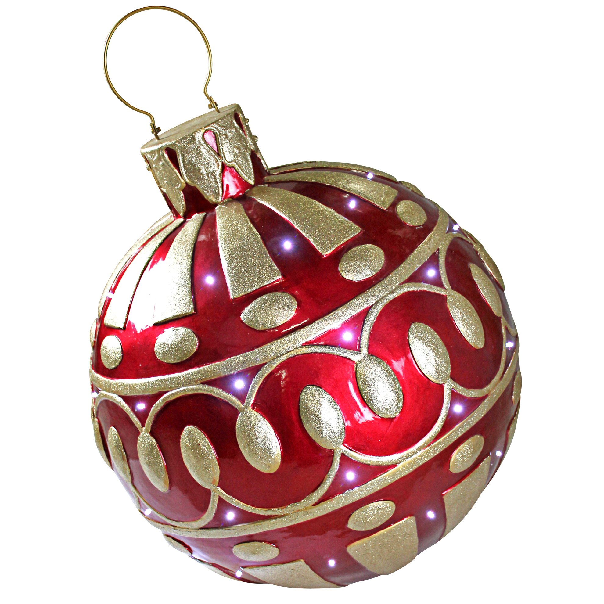 The holiday aisle gargantuan illuminated holiday ornament for Holiday christmas ornaments