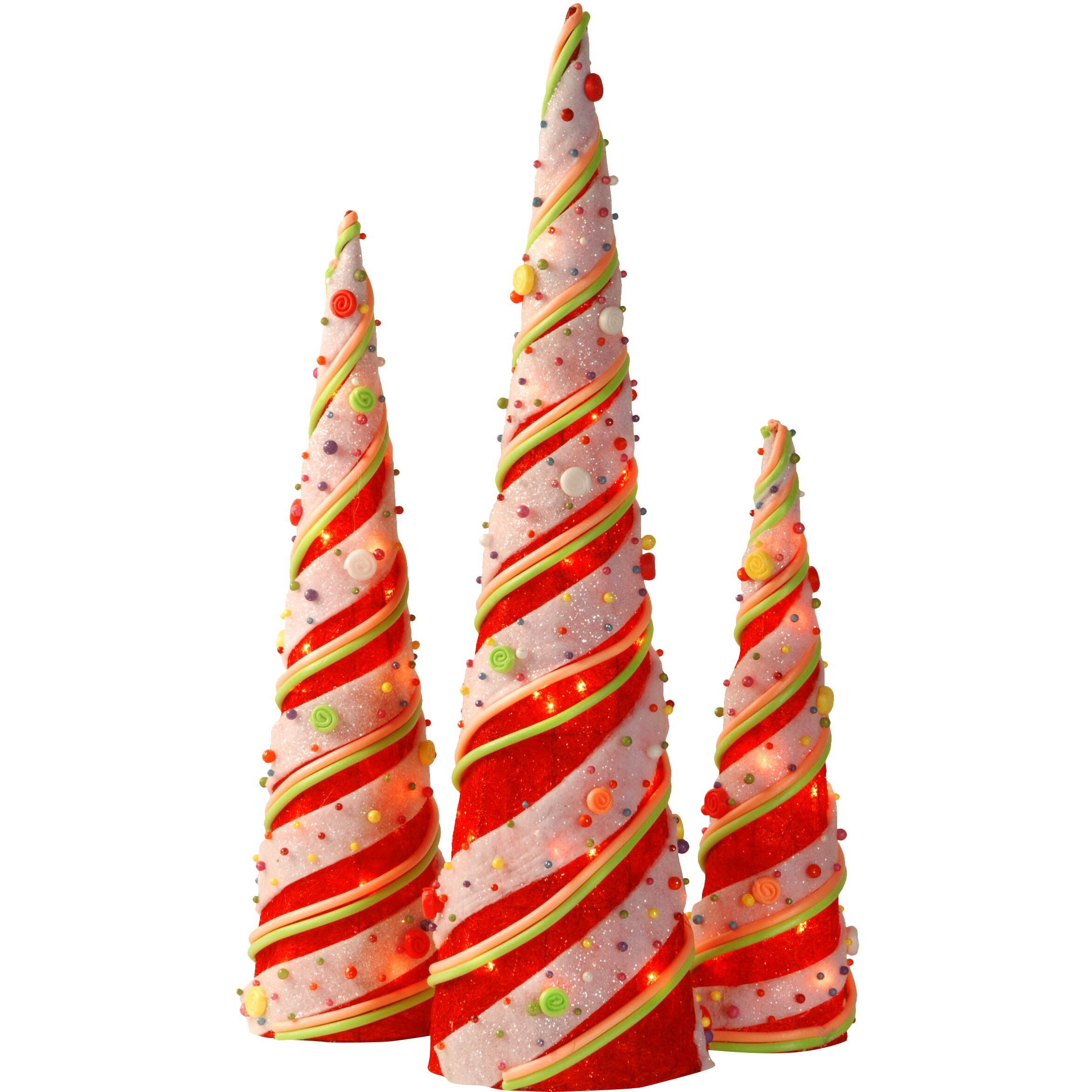 The Holiday Aisle 3 Piece Cone Christmas Decoration Set