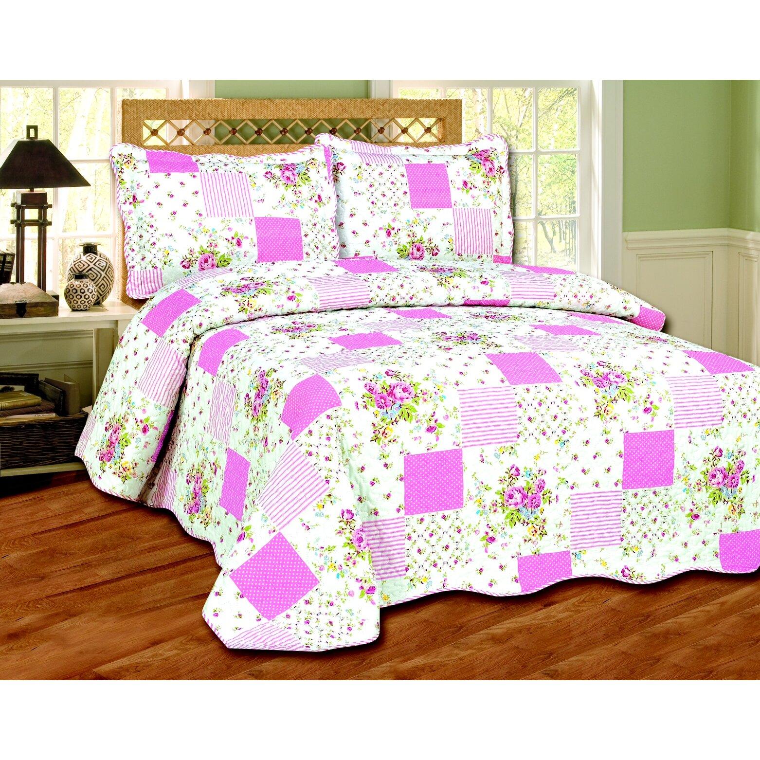 Glory Home Design Jasmine 3 Piece Quilt Set & Reviews ...