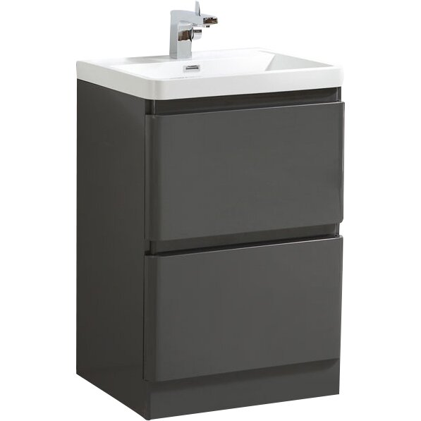 Belfry zodiac 60cm vanity unit with storage cabinet for Bathroom cabinets 60cm