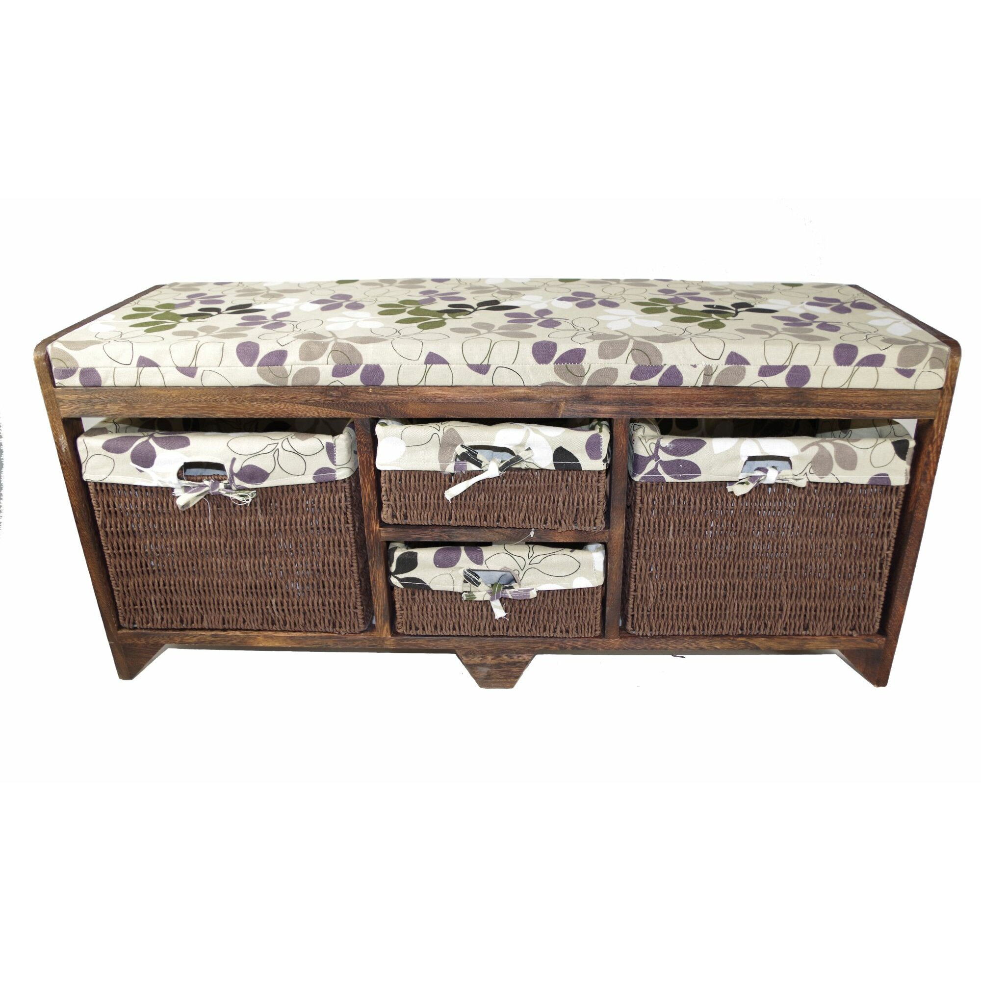 Andover Mills Ravenwood Upholstered Storage Bench: Andover Mills Cheever Wood Storage Entryway Bench