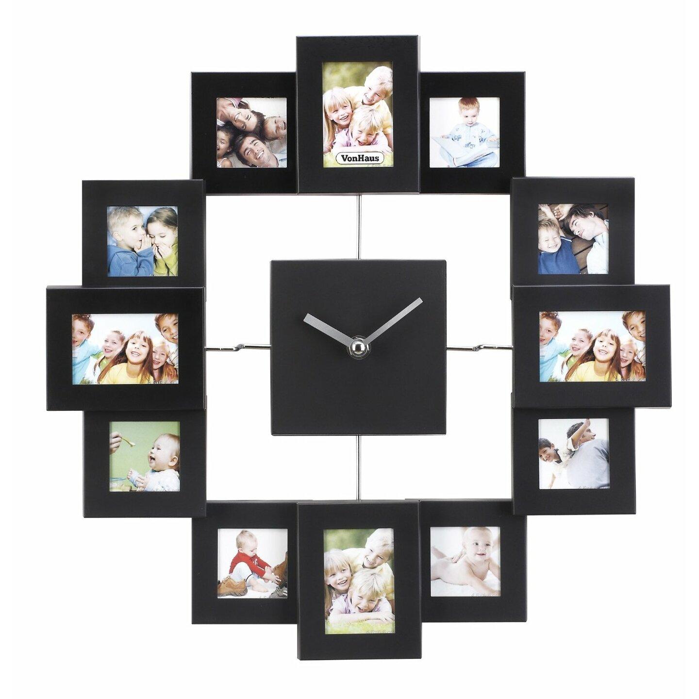vonhaus 12 photo frame wall clock reviews wayfair