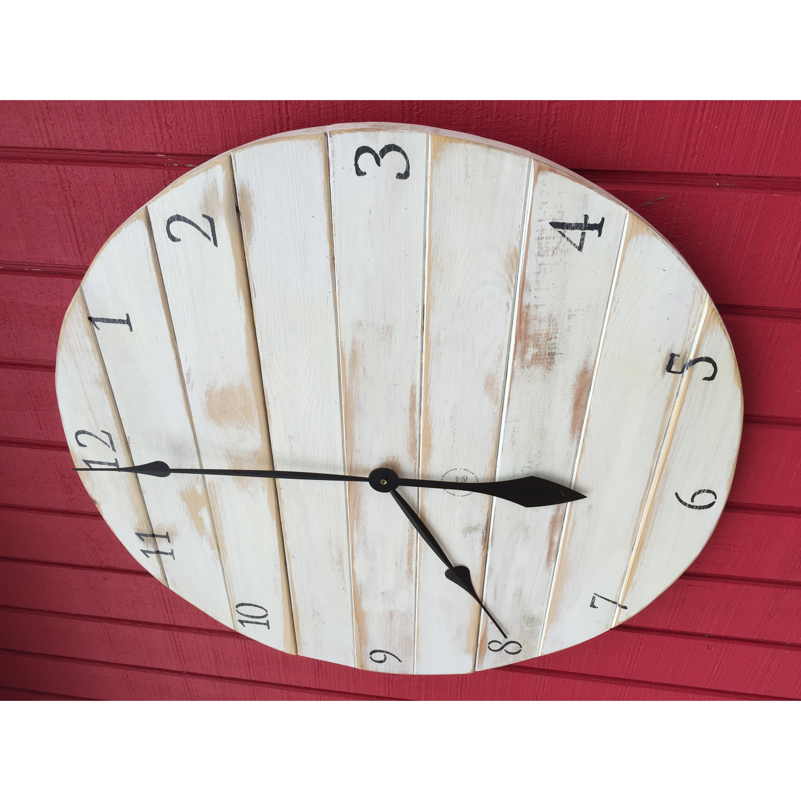 essex crafted wood products oversized 24 quot westcliff painted wood wall hanging clock wayfair