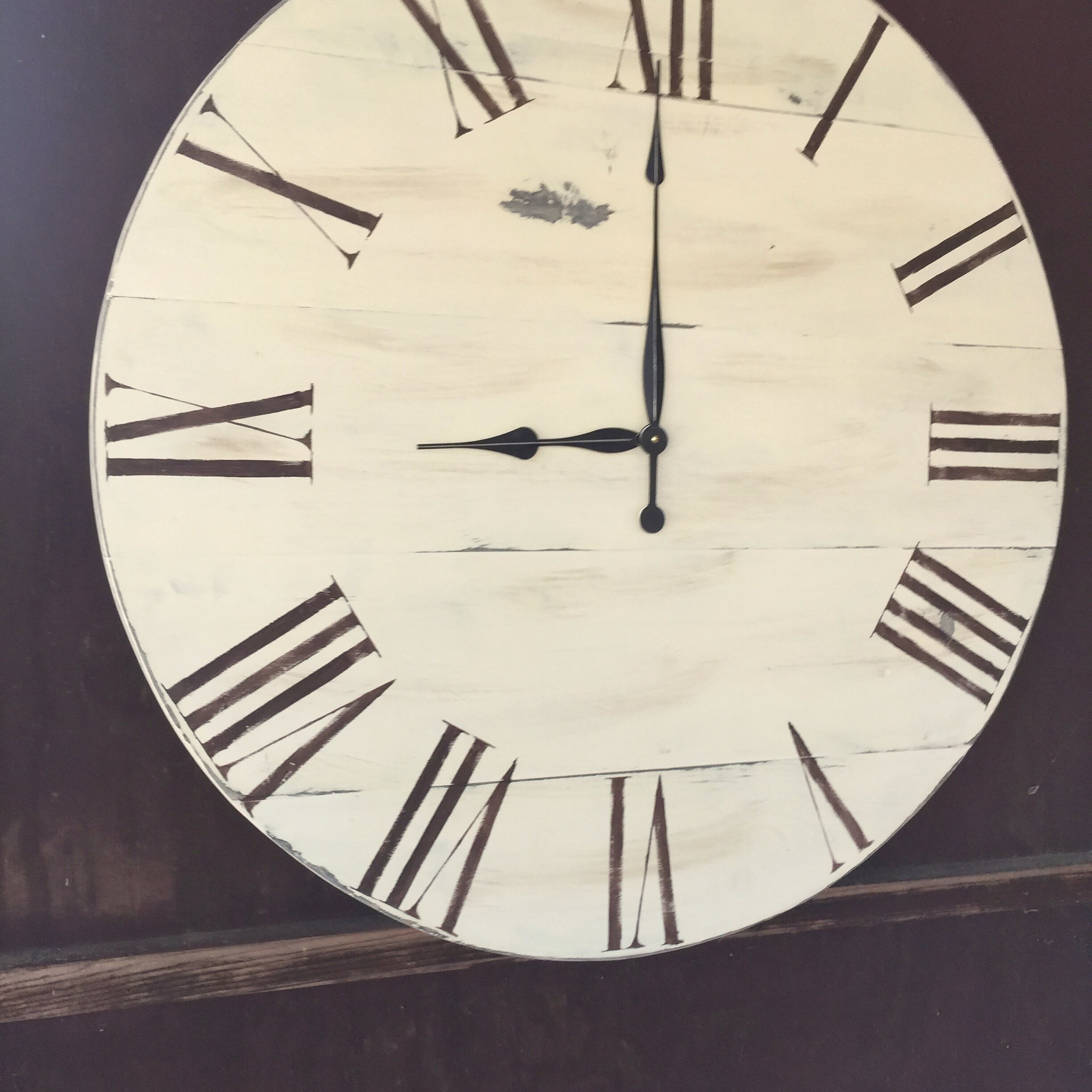 essex crafted wood products oversized 34 quot shenfield vintage style painted wood wall clock