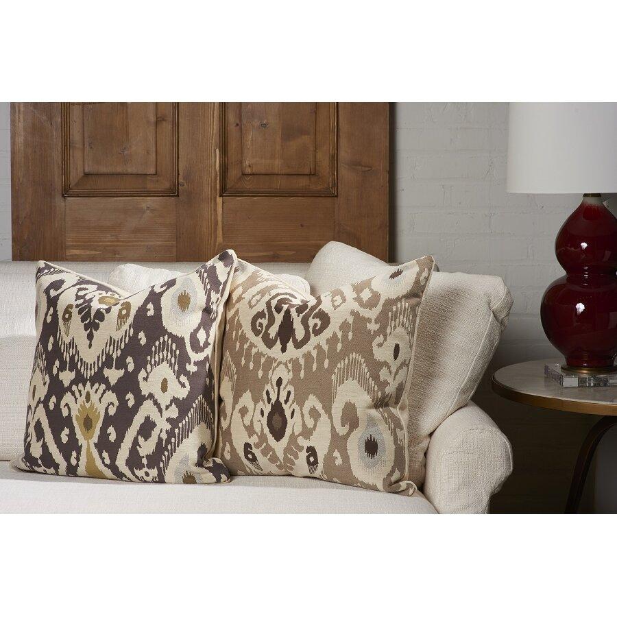 Vesper Lane Ikat Designer Filled Woven Throw Pillow & Reviews Wayfair