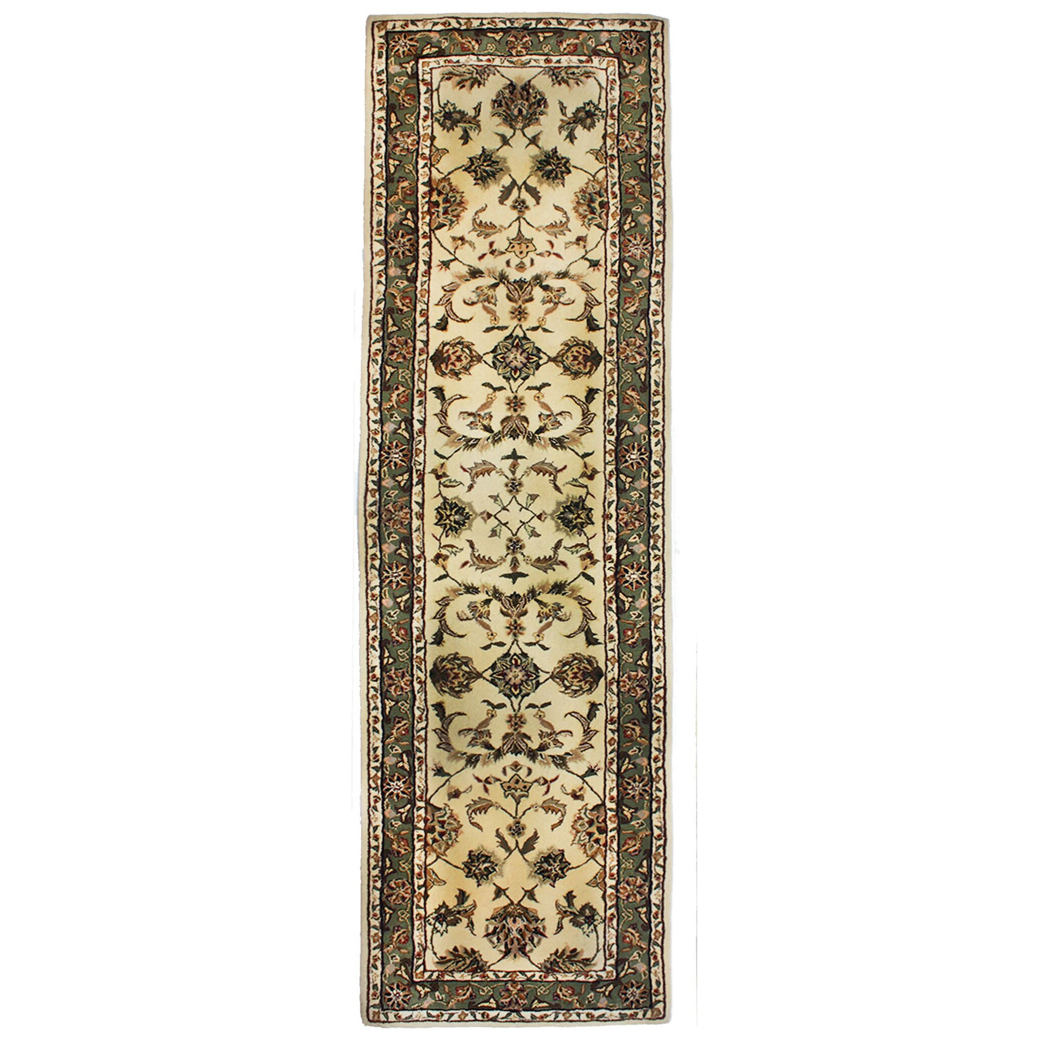 Drexel Heritage Opulance Hand-Tufted Natural/Olive Green Area Rug : Wayfair