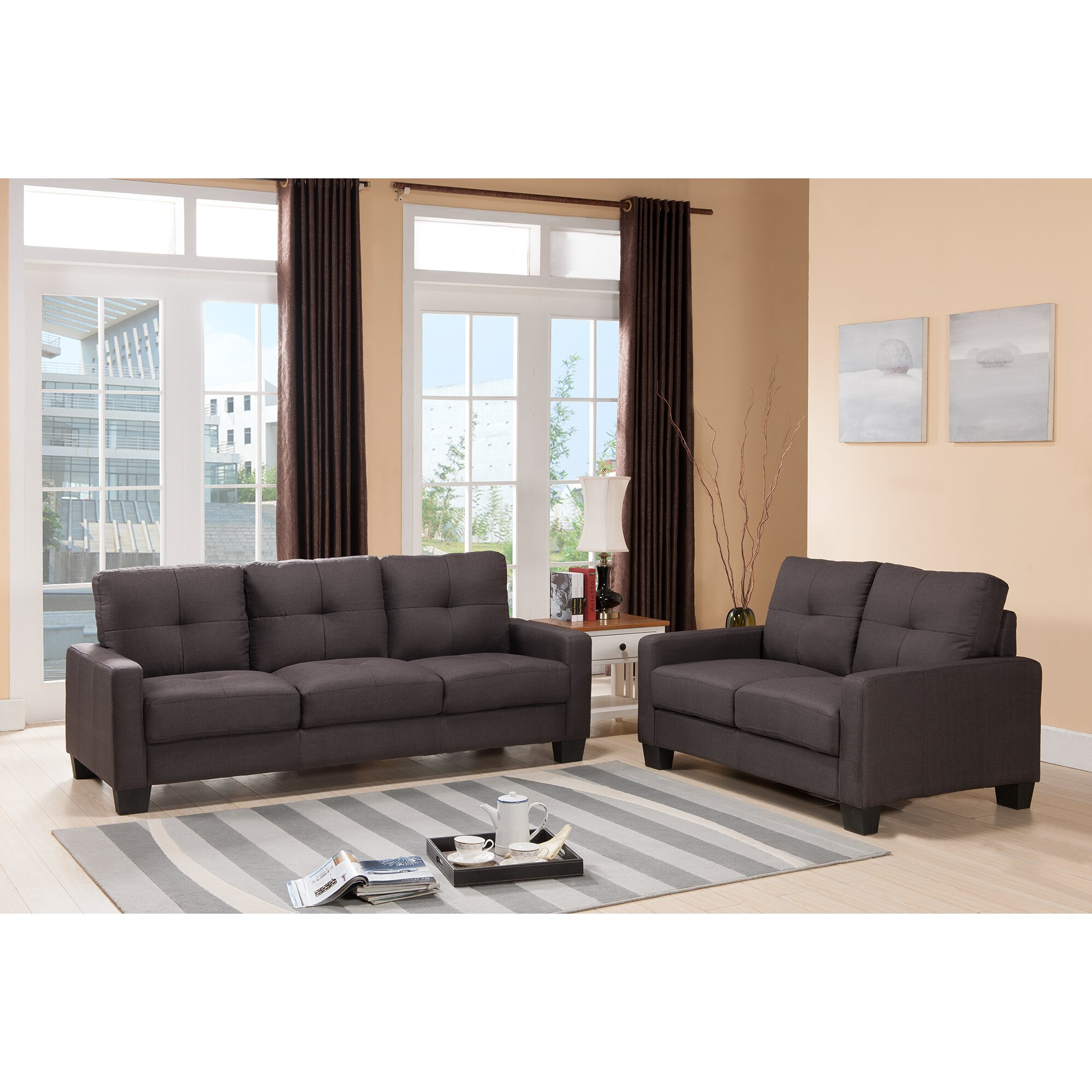 Living in style montgomery 2 piece living room set for 2 piece living room set
