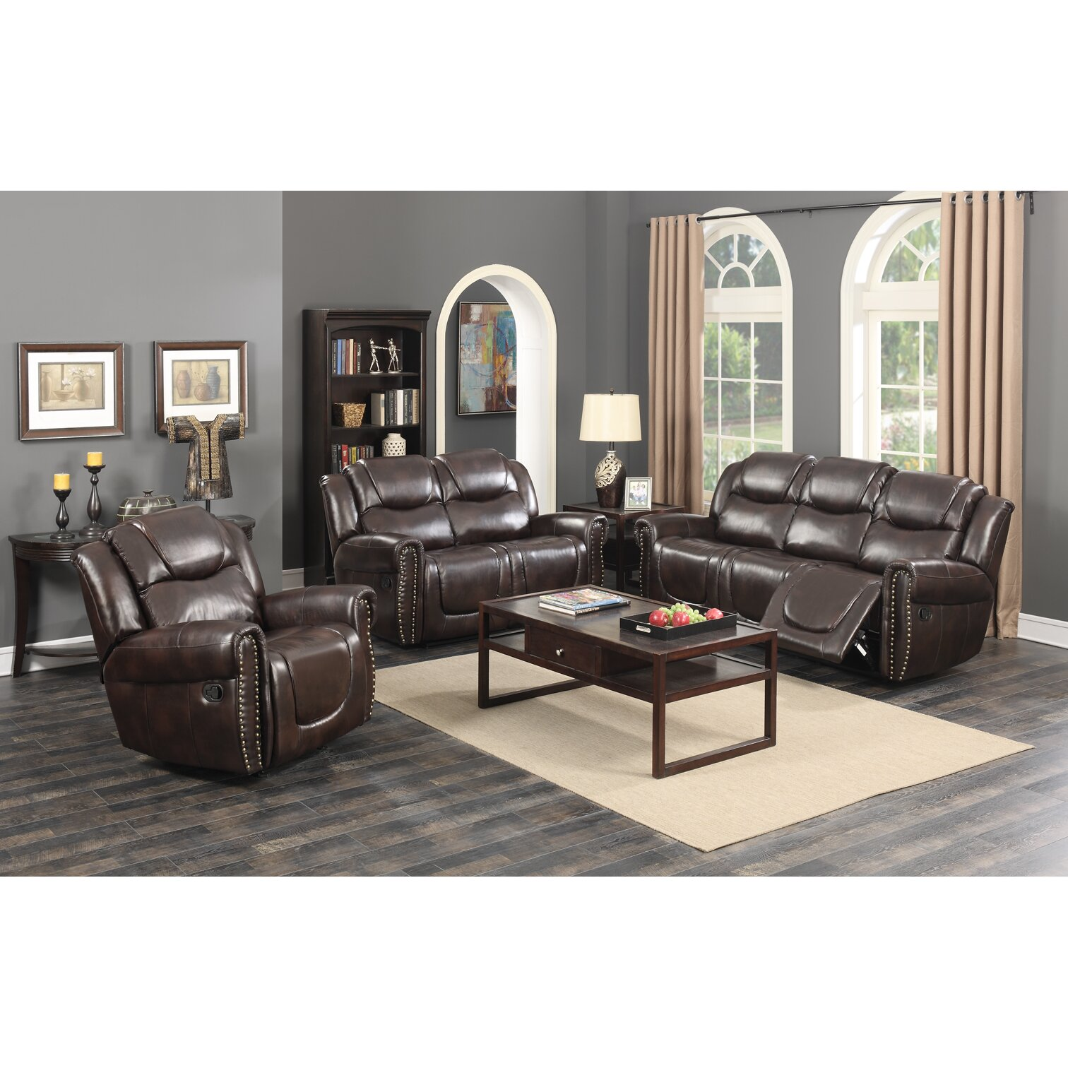 Living In Style Castrol Living Room Reclining Sofa