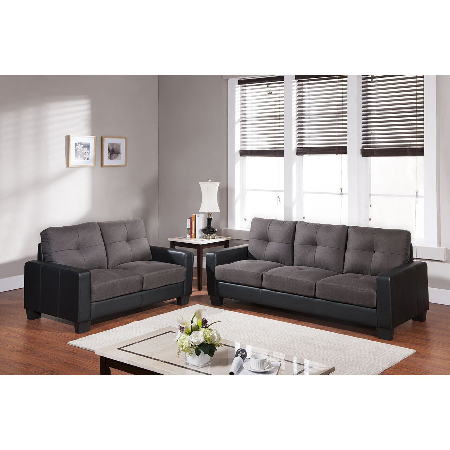 living in style middleton 2 piece living room set