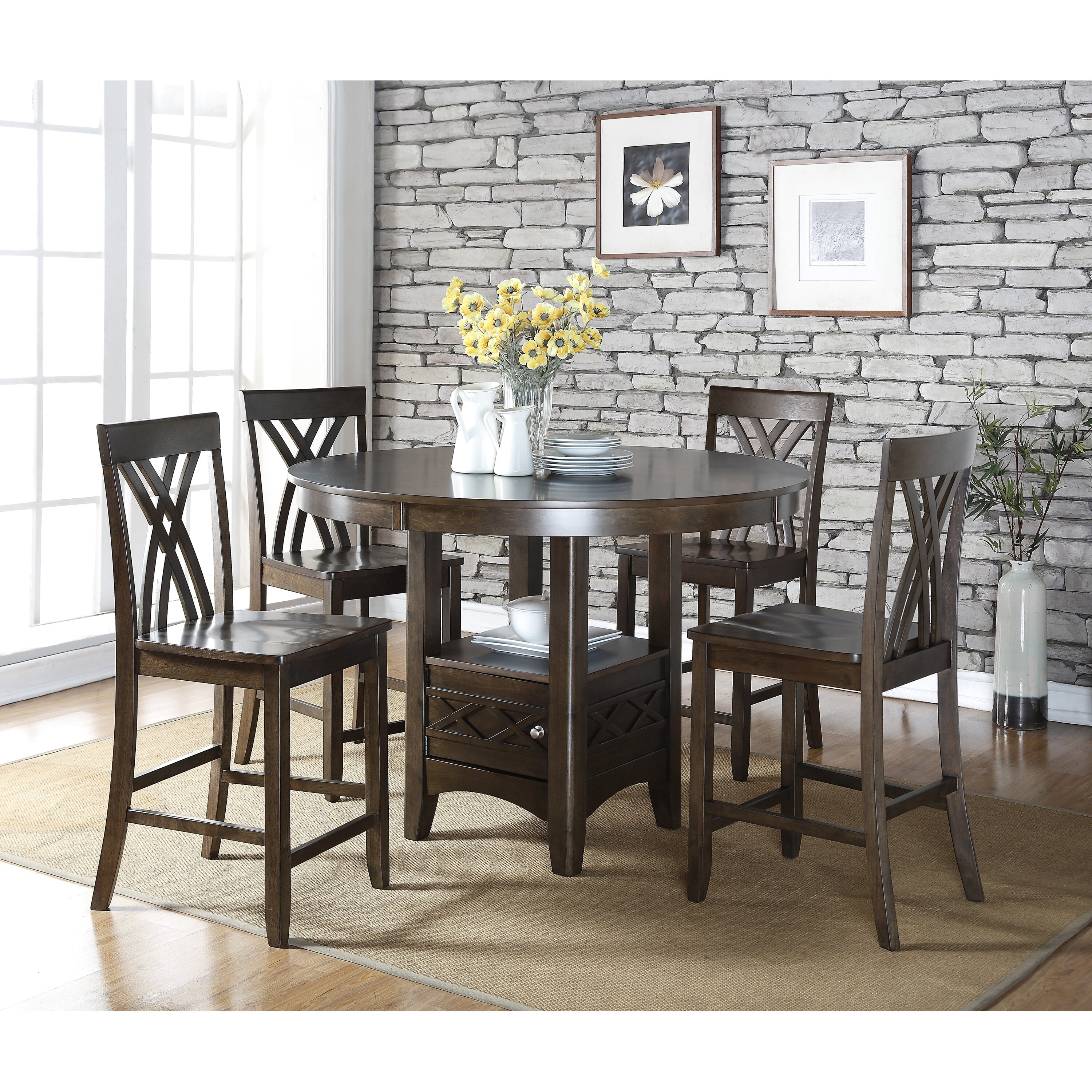 hd wallpapers 5 piece counter height dining table set 3d