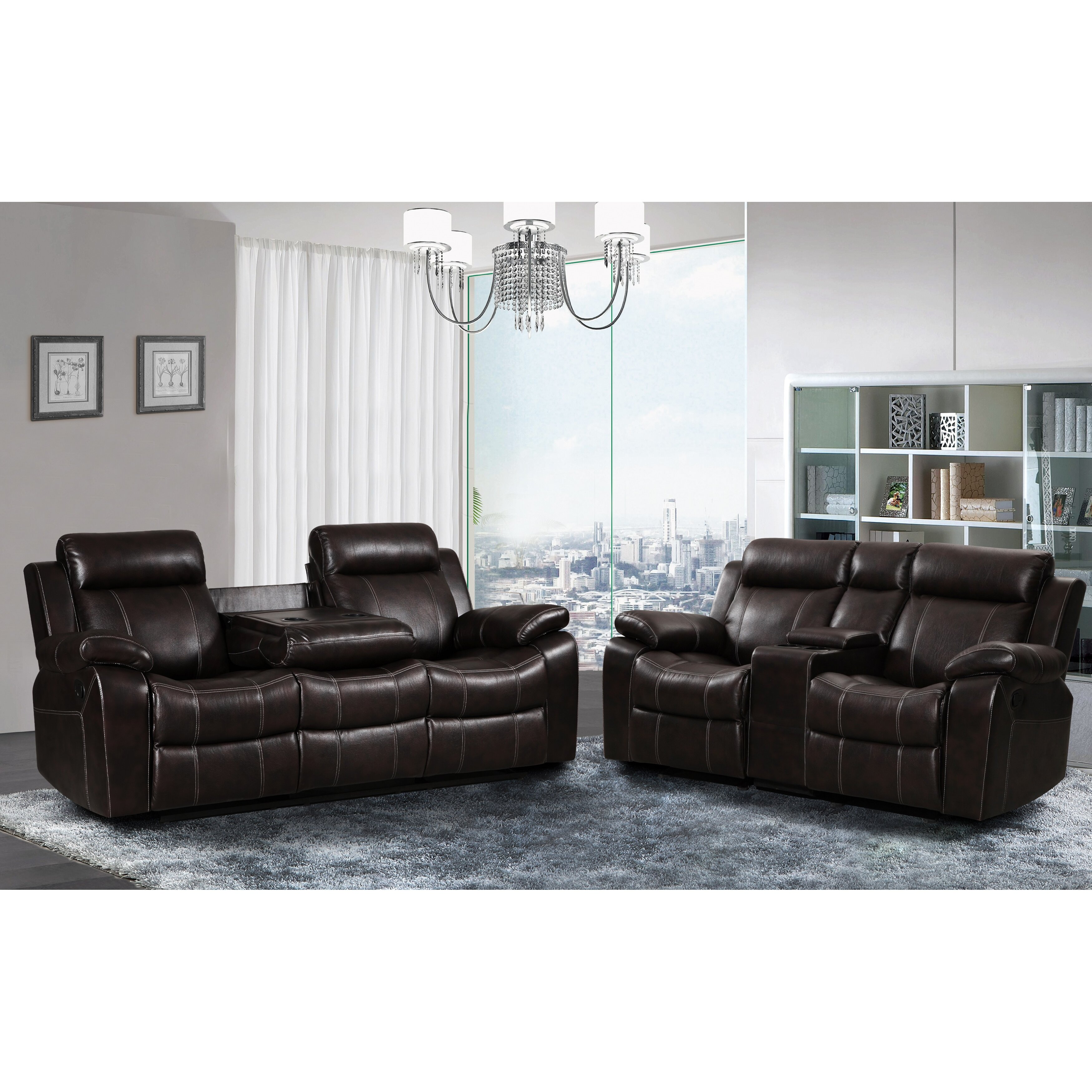 Living in style gabrielle 2 piece living room reclining for 2 piece living room furniture set