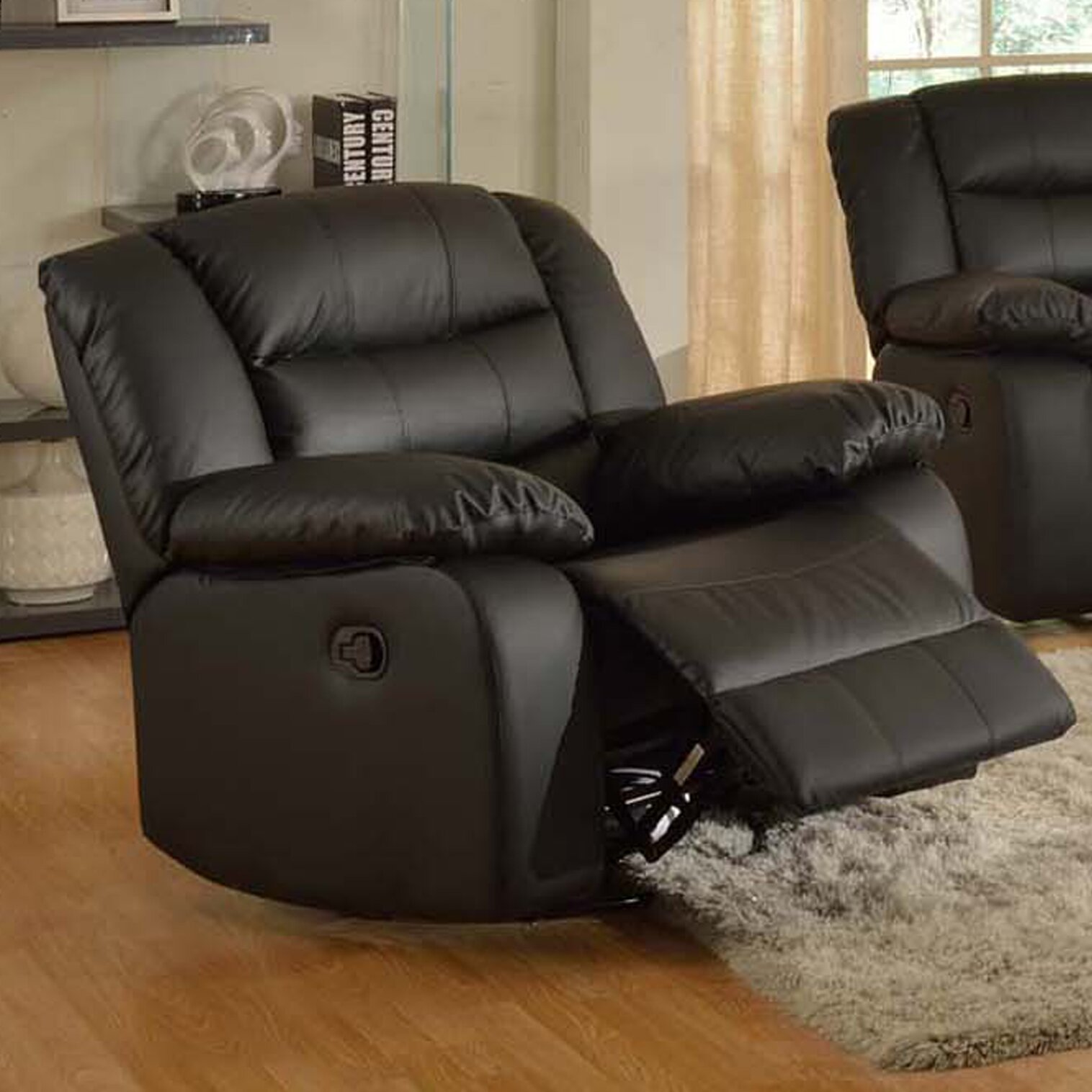 Living in style casta modern swivel rocking recliner reviews wayfair - Stylish rocker recliner ...