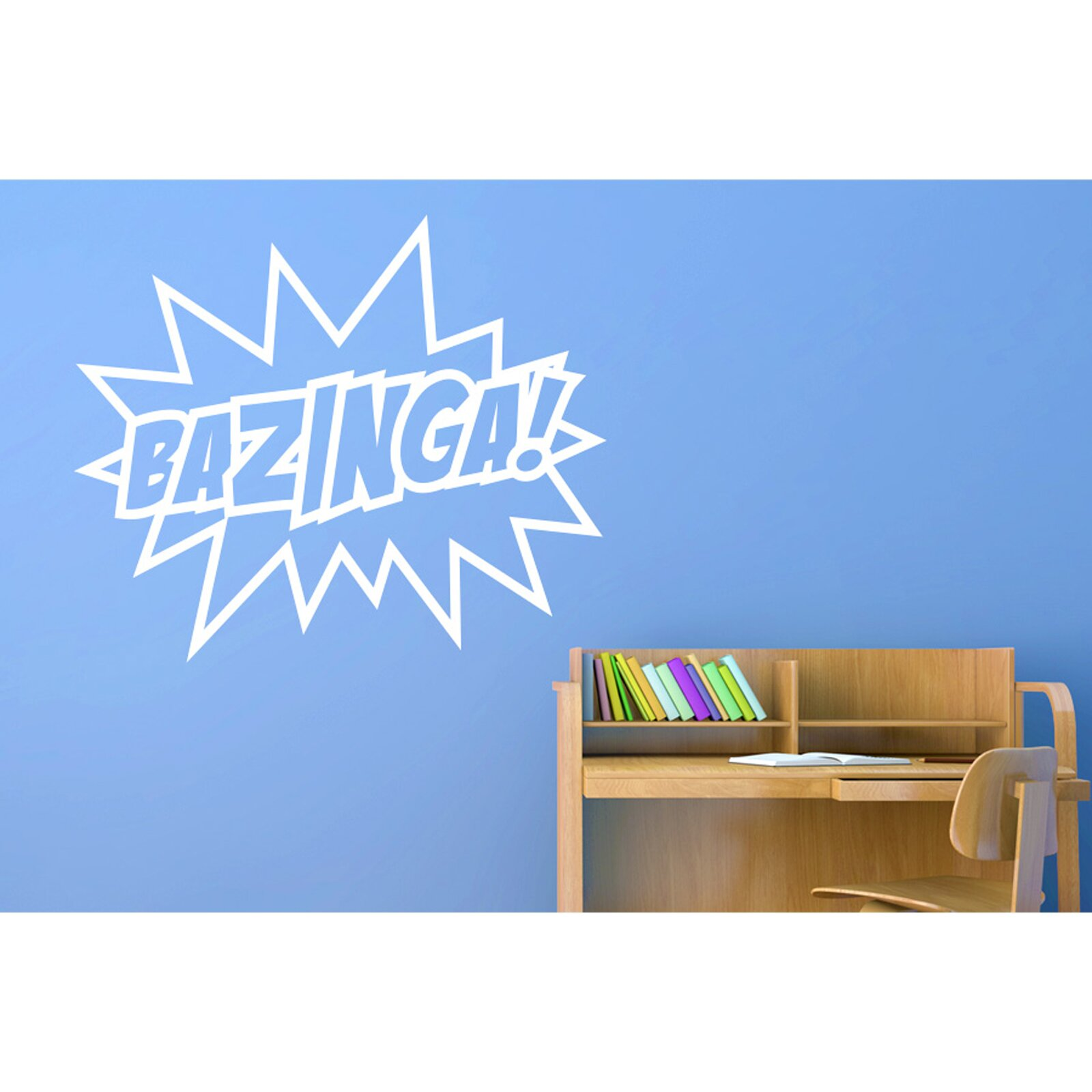 Quote Wall Stickers Next : Cut it out wall stickers bazinga sheldon quote from the