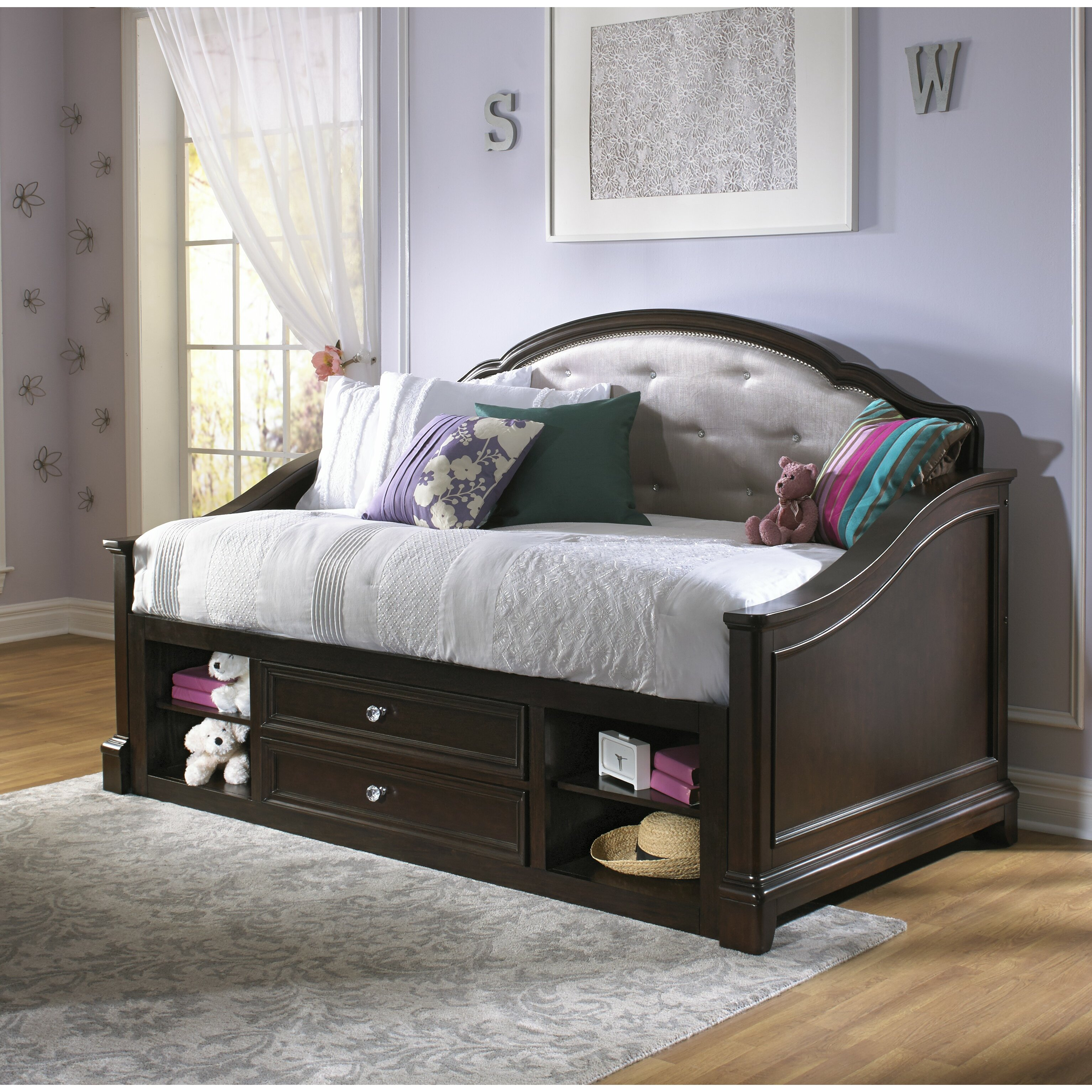 Samuel Lawrence Girls 39 Glam Daybed With Trundle Reviews Wayfair Supply