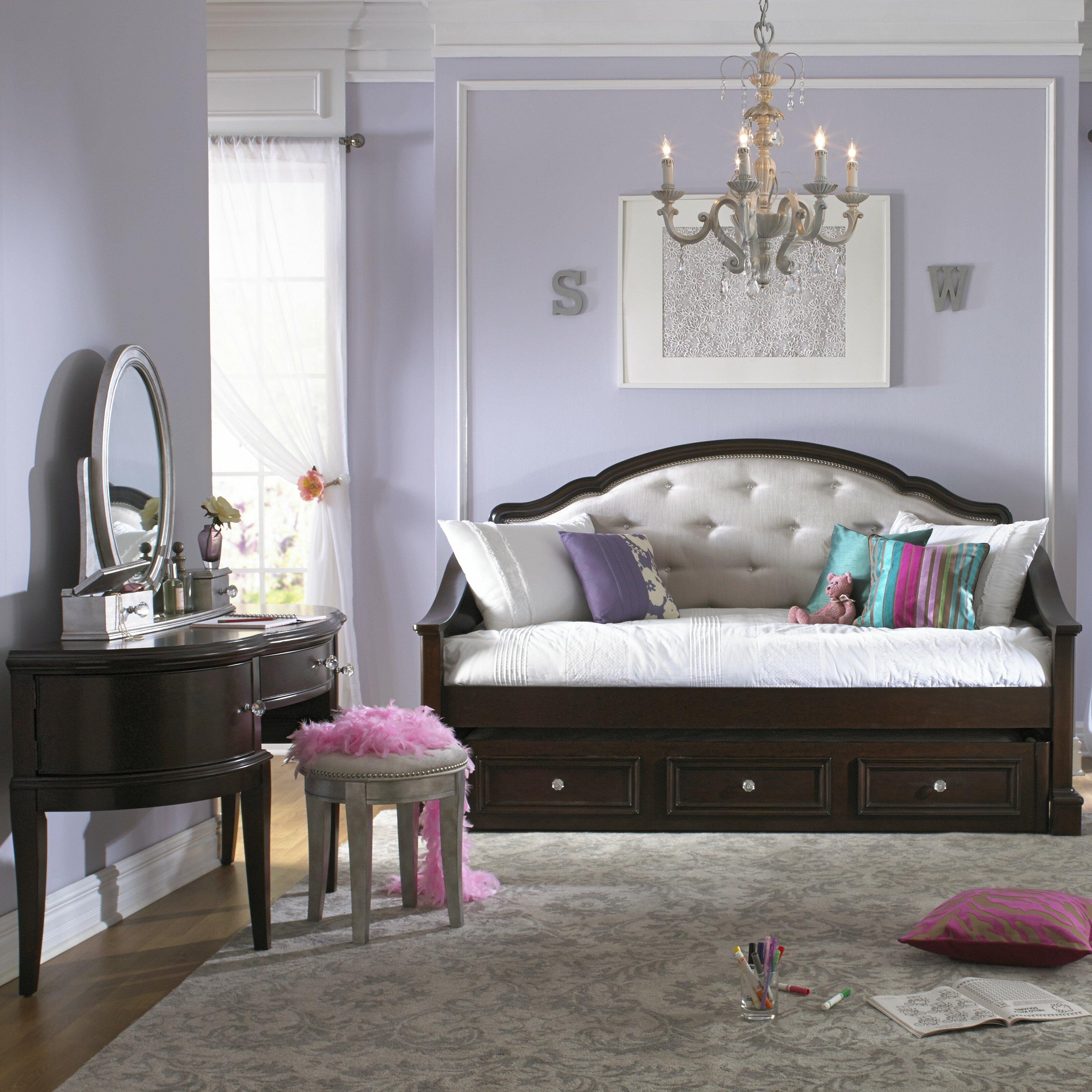 samuel lawrence girls 39 glam panel customizable bedroom set reviews wayfair. Black Bedroom Furniture Sets. Home Design Ideas