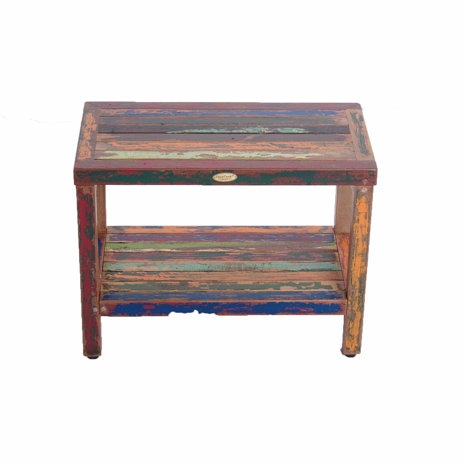 Ecodecors Recycled Salvaged Reclaimed Boat Wood Garden Bench Reviews Wayfair