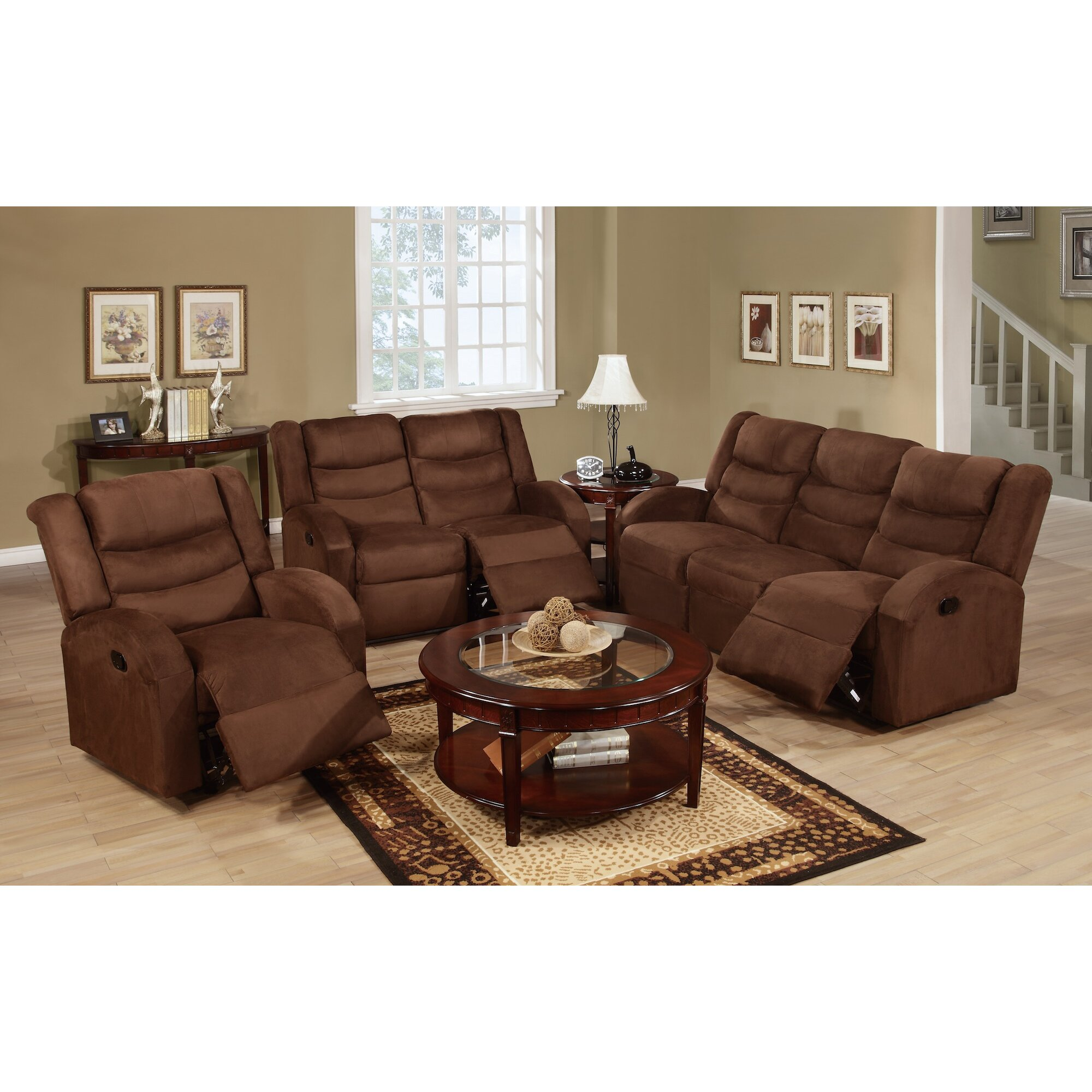 Infini Furnishings Mason Reclining Sofa Wayfair