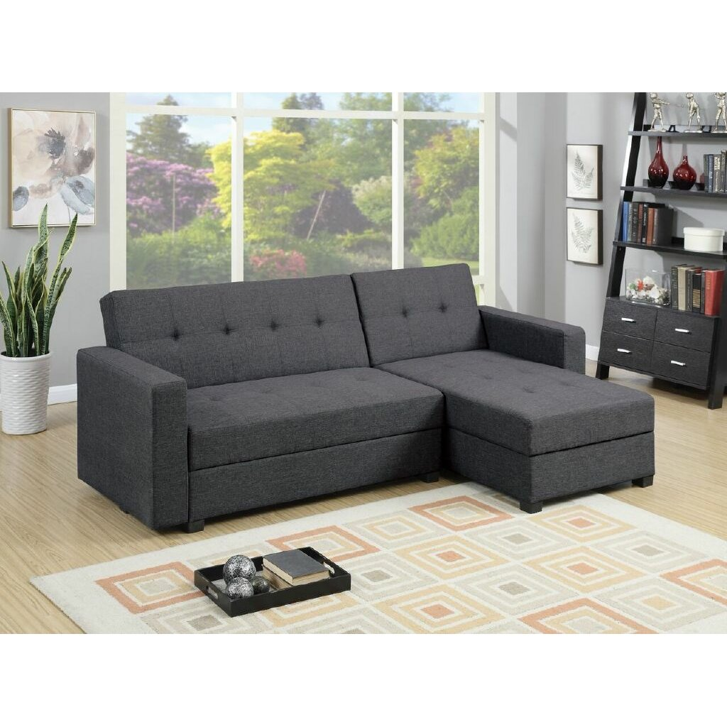 Infini furnishings reversible chaise sectional reviews for Sectional sofa reversible chaise living room furniture