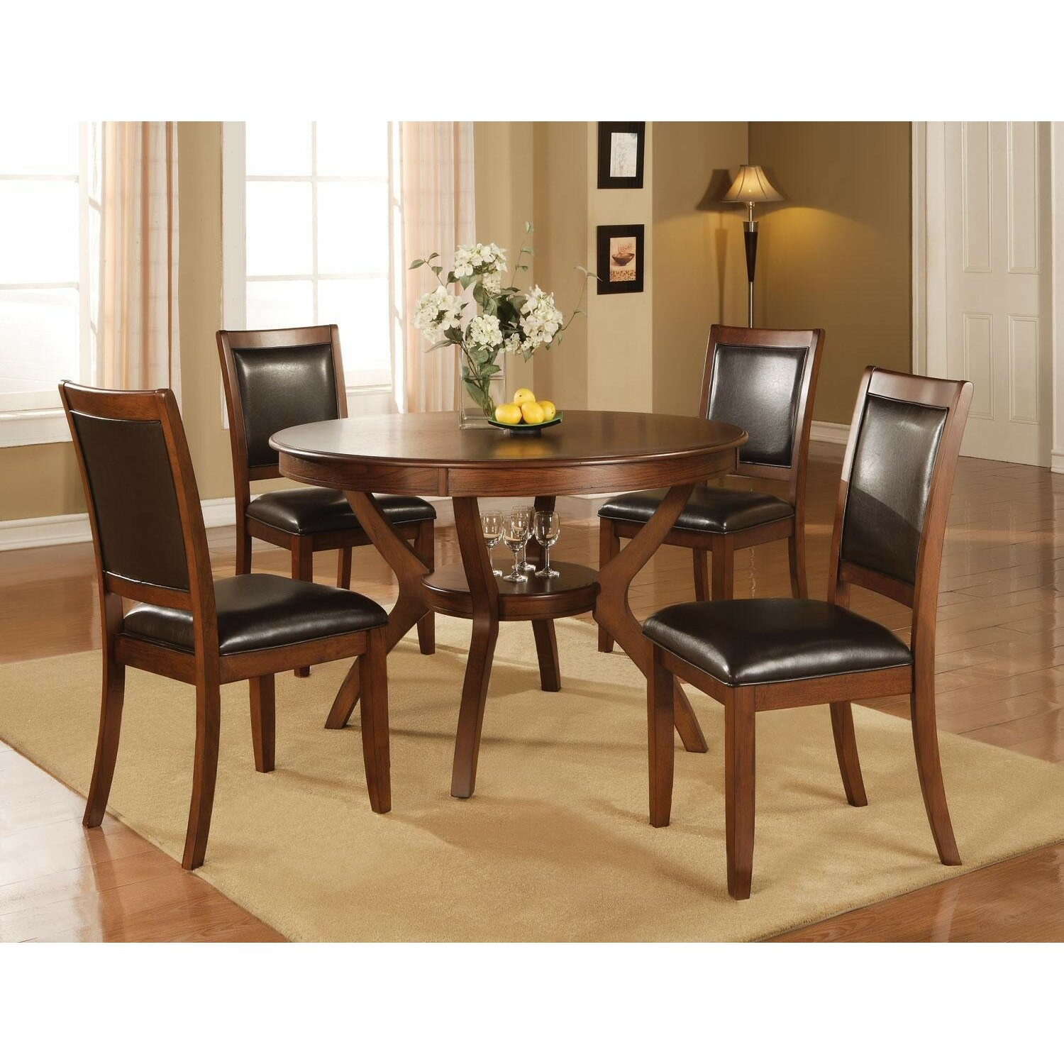 Infini furnishings 5 piece dining set reviews wayfair for 5 piece dining room sets