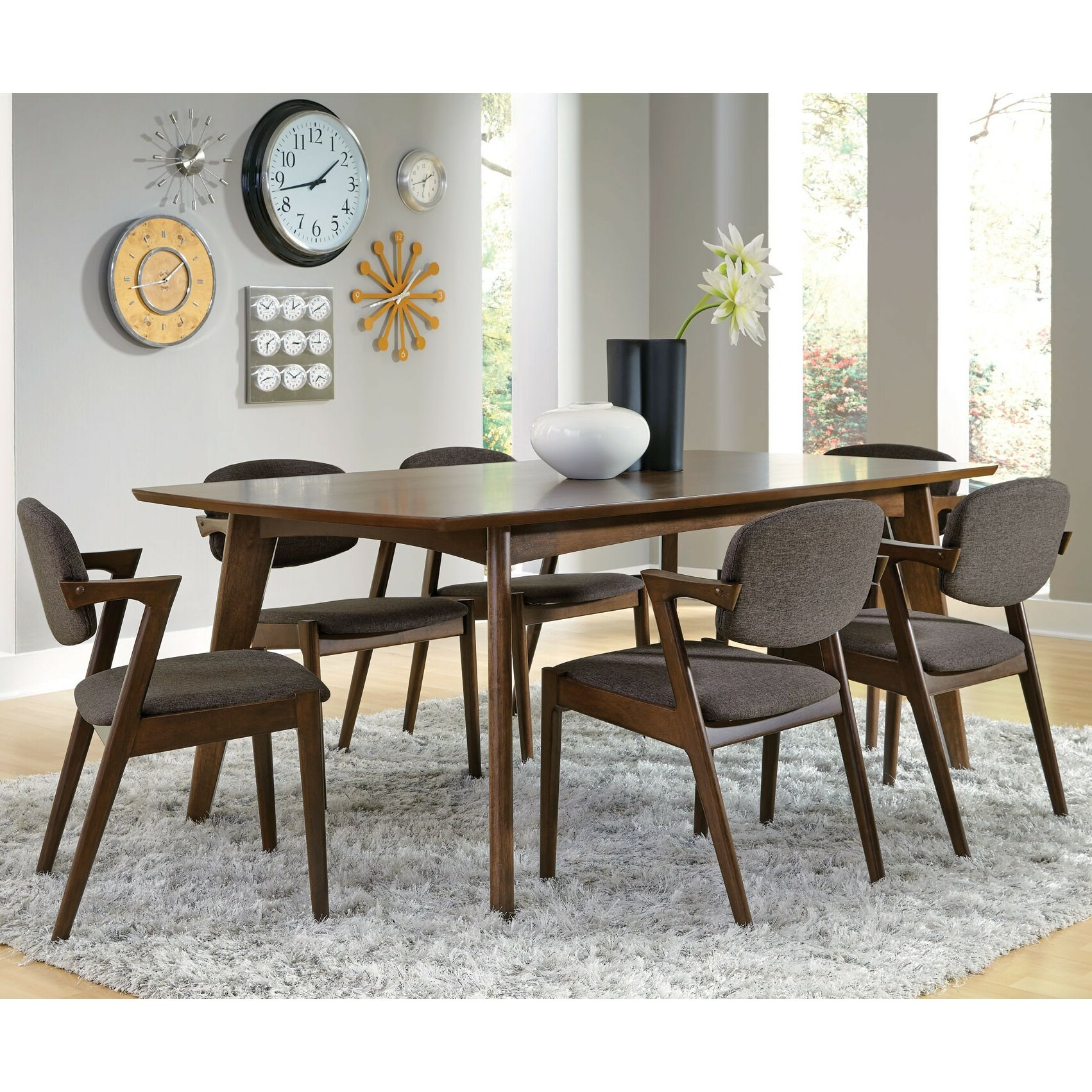 Infini furnishings frederik 7 piece dining set reviews for 7 piece dining set