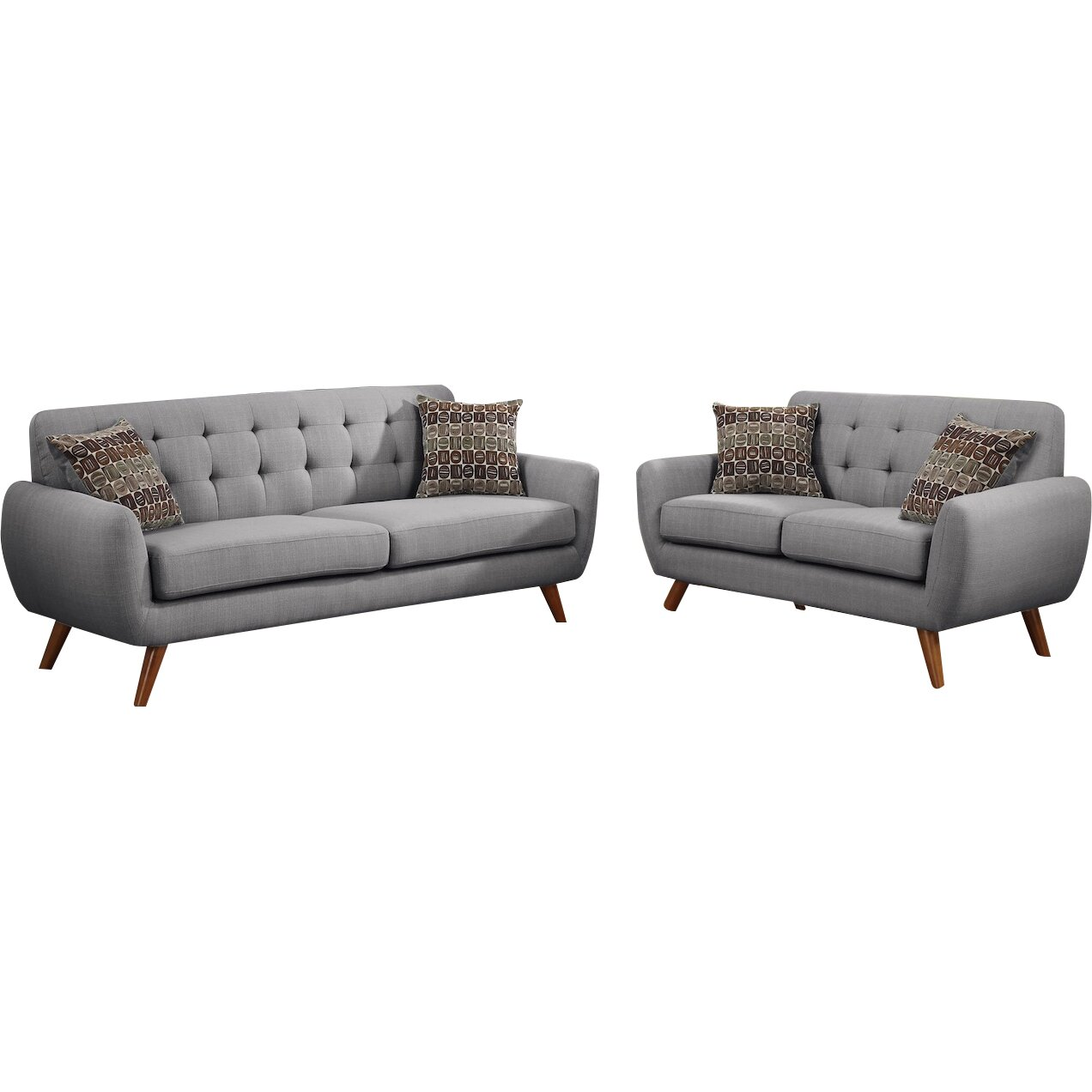 Infini Furnishings Modern Retro Sofa And Loveseat Reviews Wayfair