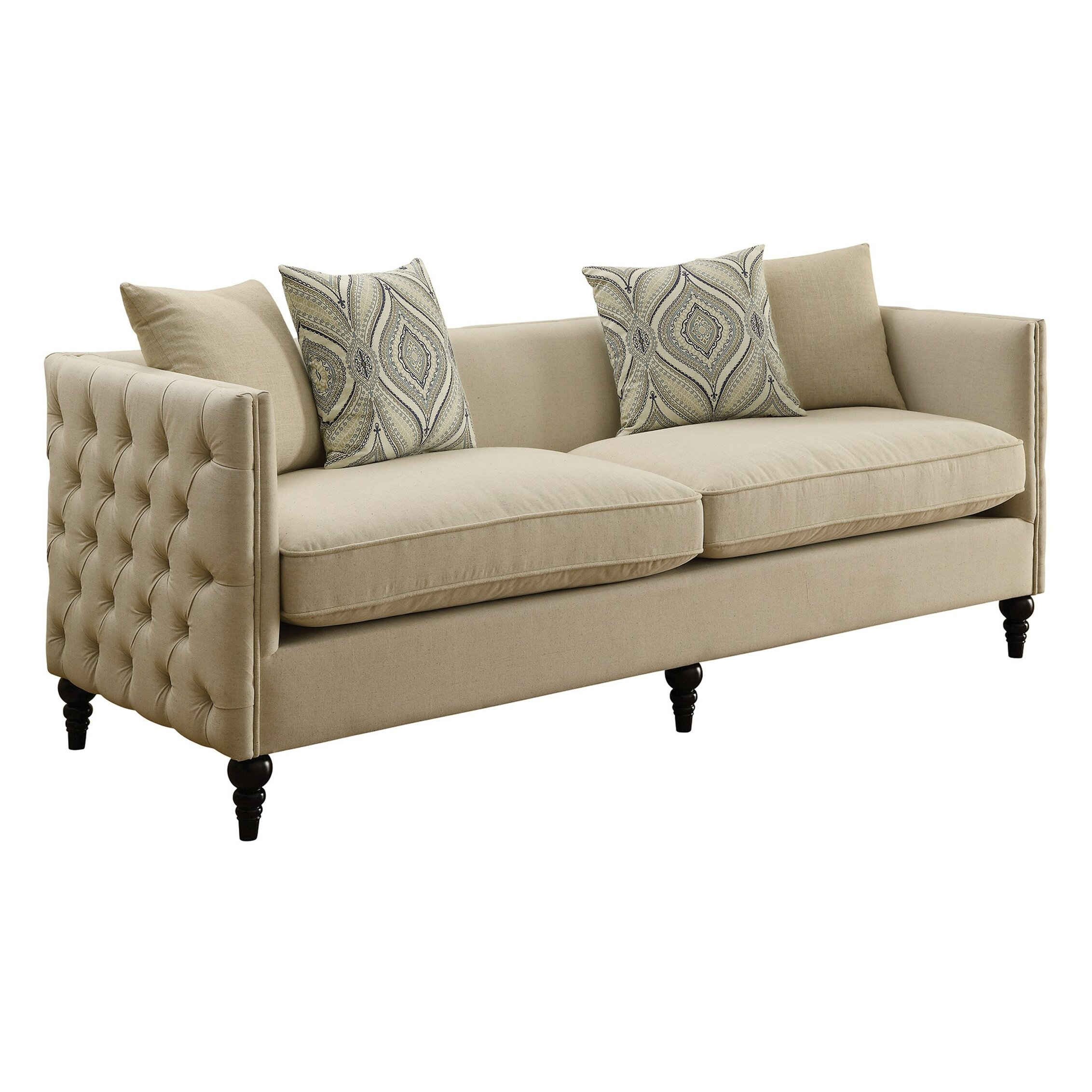 Infini furnishings new rochelle sofa and loveseat set for Divan furniture