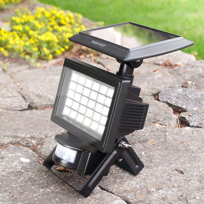 of eco nitewatch solar motion sensor flood light reviews wayfair. Black Bedroom Furniture Sets. Home Design Ideas
