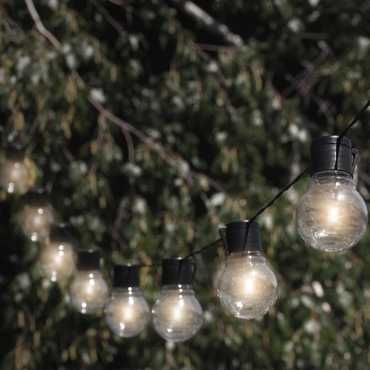 Outdoor Bistro Solar Powered Globe String Lights: Touch Of ECO Nitebulbs Solar 10 Light Globe String Lights