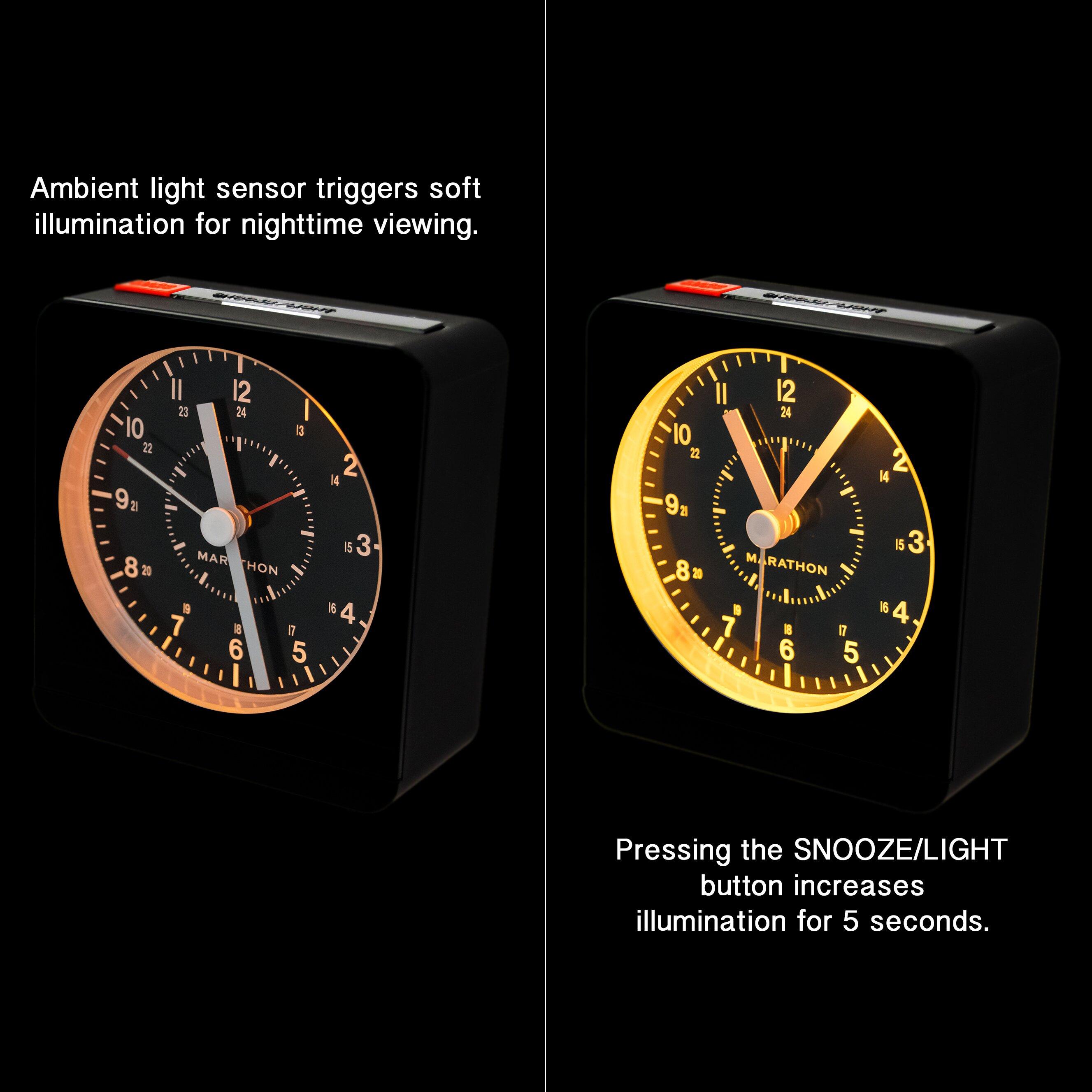 Marathon Watch Company Desk Alarm Clock Amp Reviews Wayfair